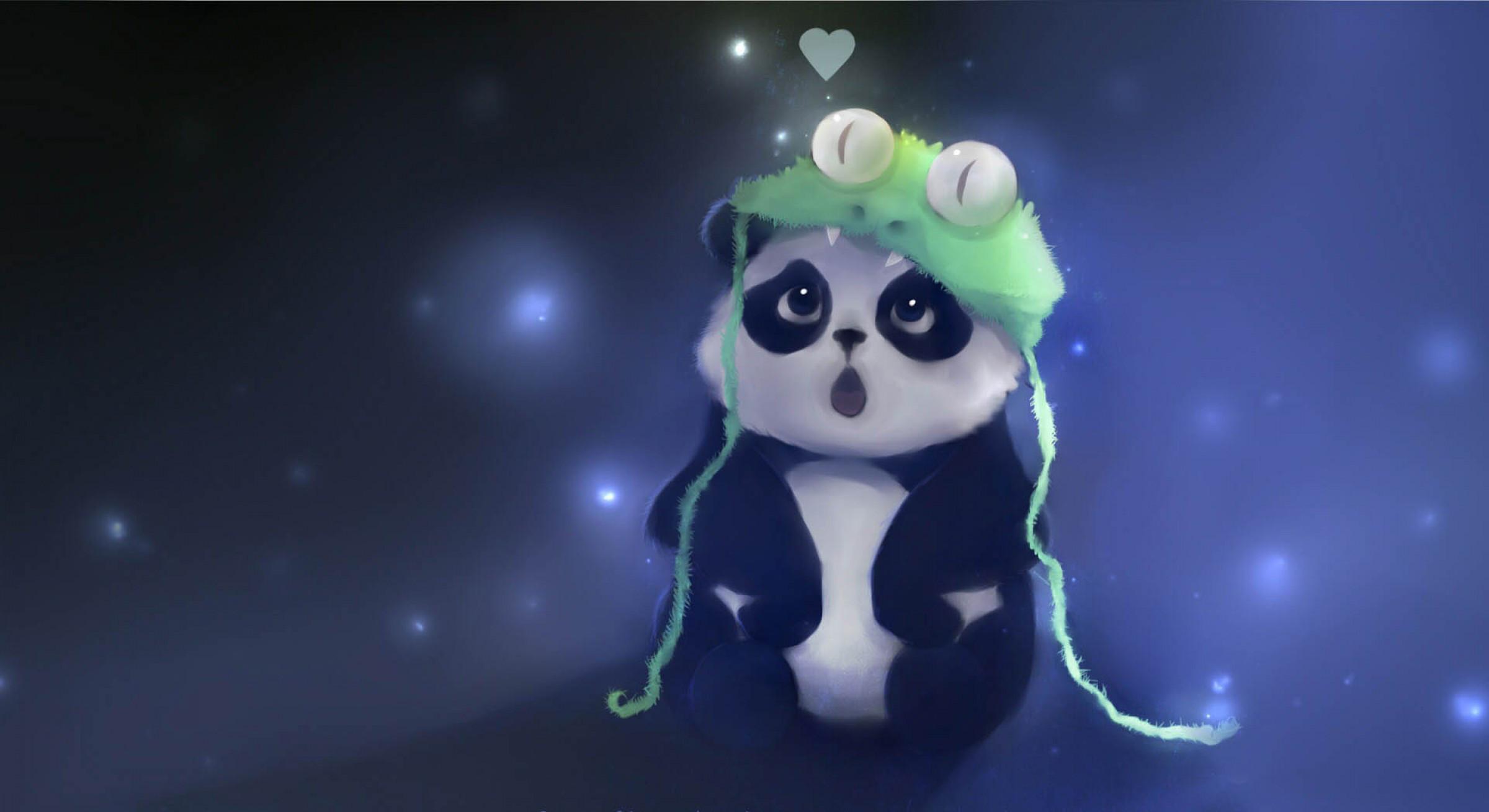 Res: 2400x1310, Anime Panda #1743252