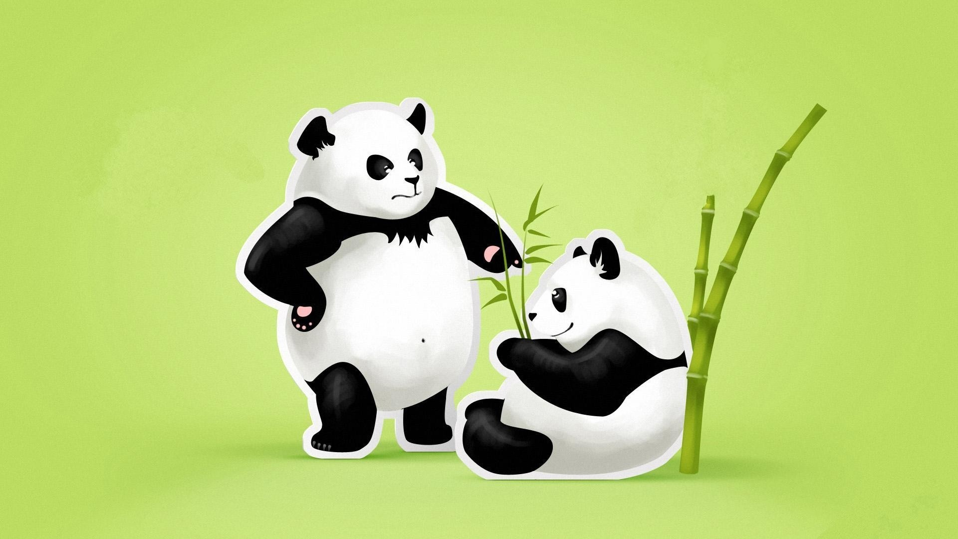 Res: 1920x1080, Cute Panda Couple Wallpaper HD