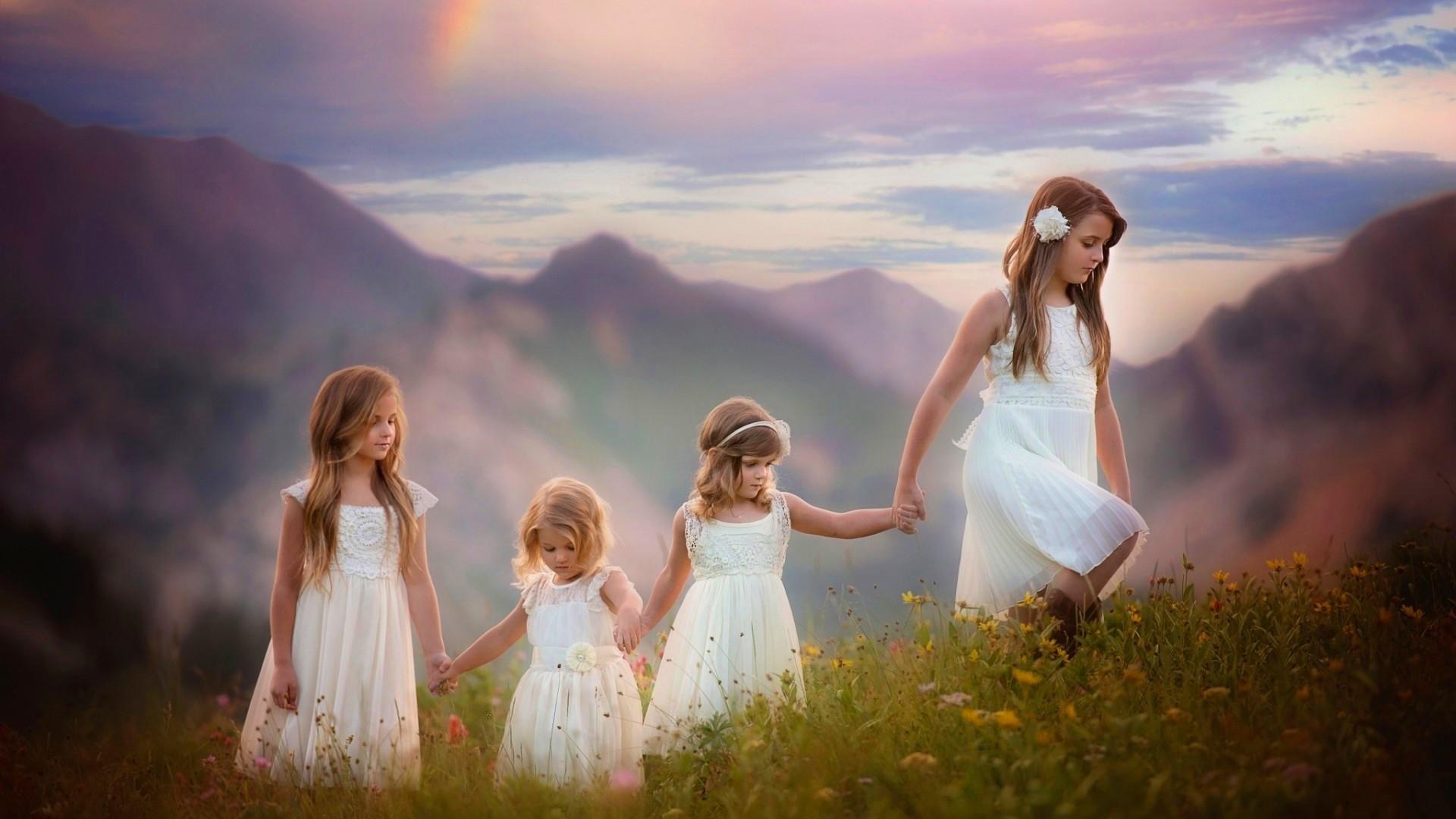 Res: 1920x1080, Cute Sisters Wallpaper HD For Desktop, Laptop & Mobile