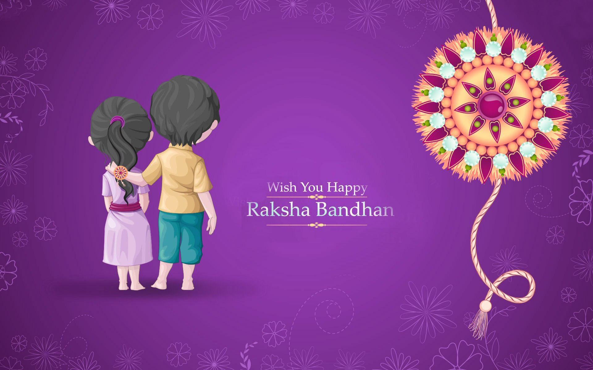 Res: 1920x1200, Rakshabandhan Festival of Brother and sister   Top Wallpapers HD