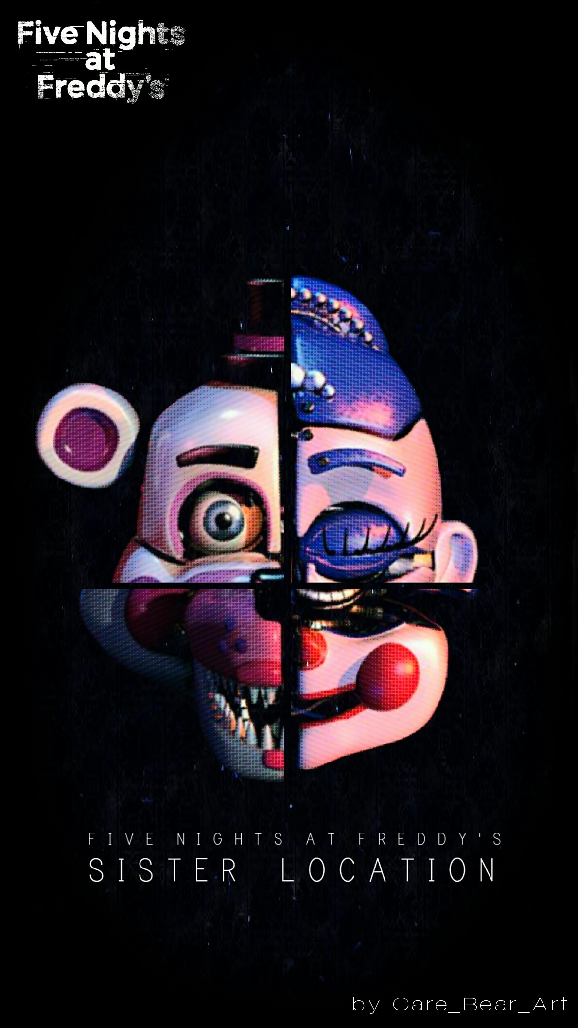 Res: 1189x2114, Fnaf sister location wallpaper heads by GareBearArt1 Fnaf sister location  wallpaper heads by GareBearArt1