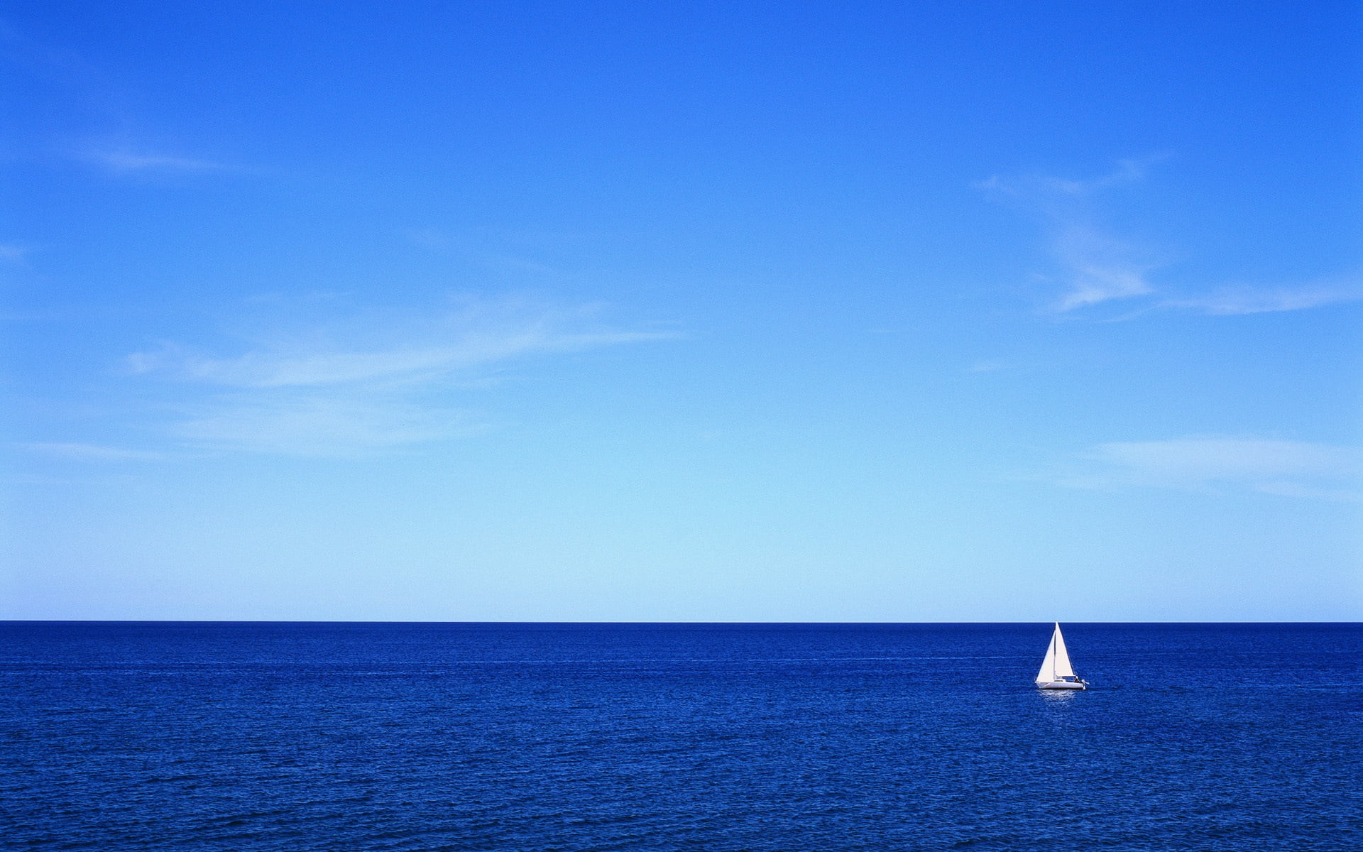 Res: 1920x1200, white sailing boat on ocean during daytime HD wallpaper