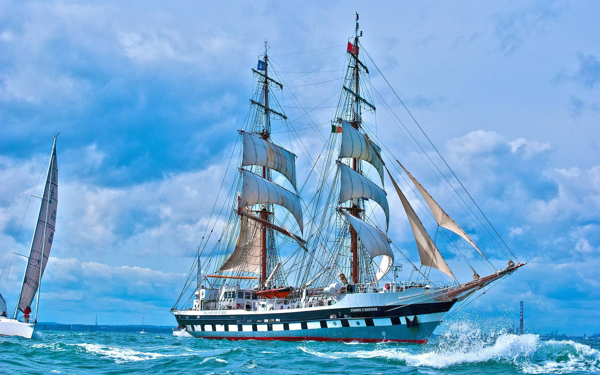 Res: 1920x1200, Nautical Wallpaper New Sailboat Stavros Niarchos Boat Hd Wallpapers  Pinterest