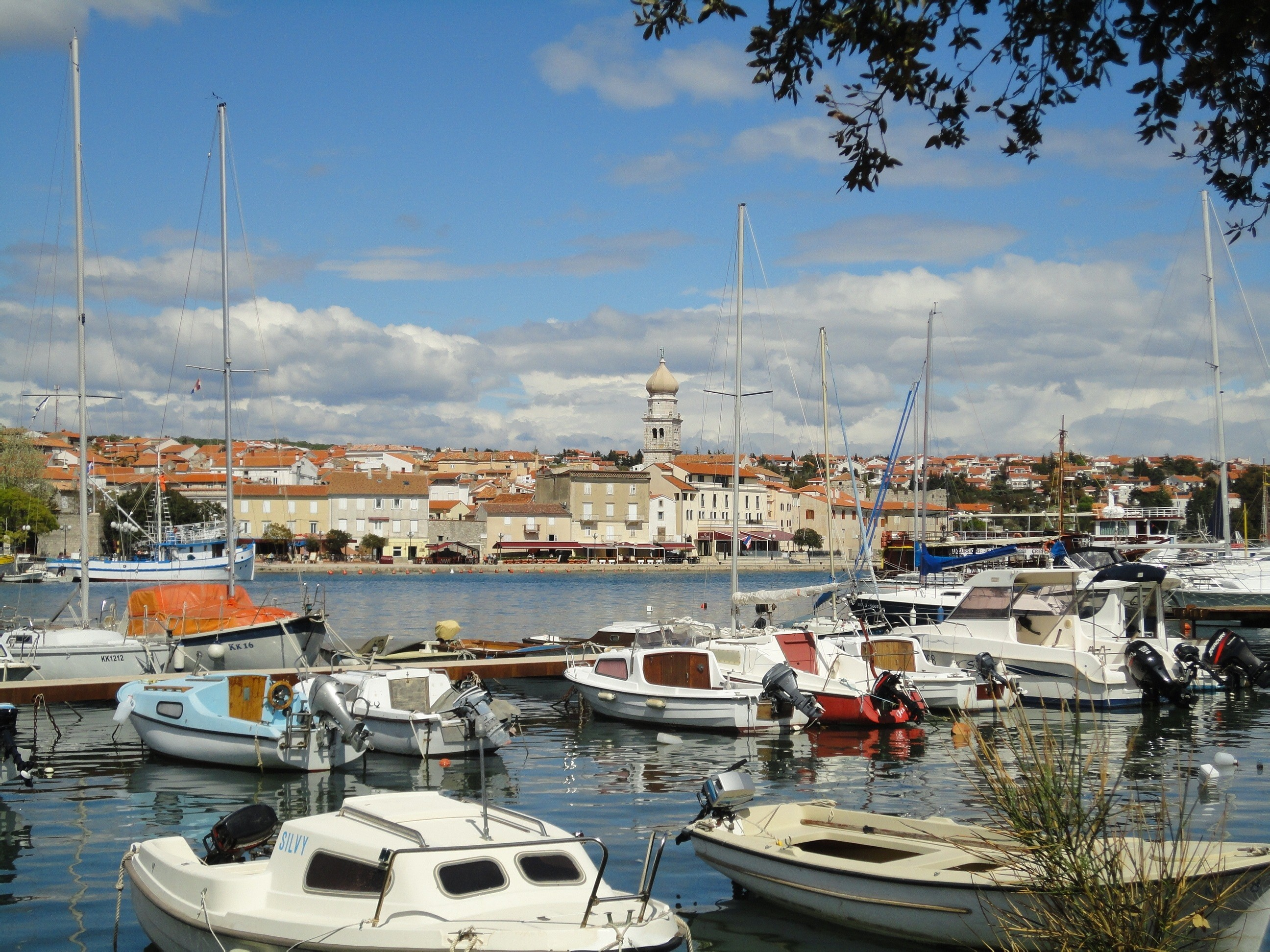 Res: 2592x1944, Port City, Croatia, Island Of Krk, nautical vessel, harbor