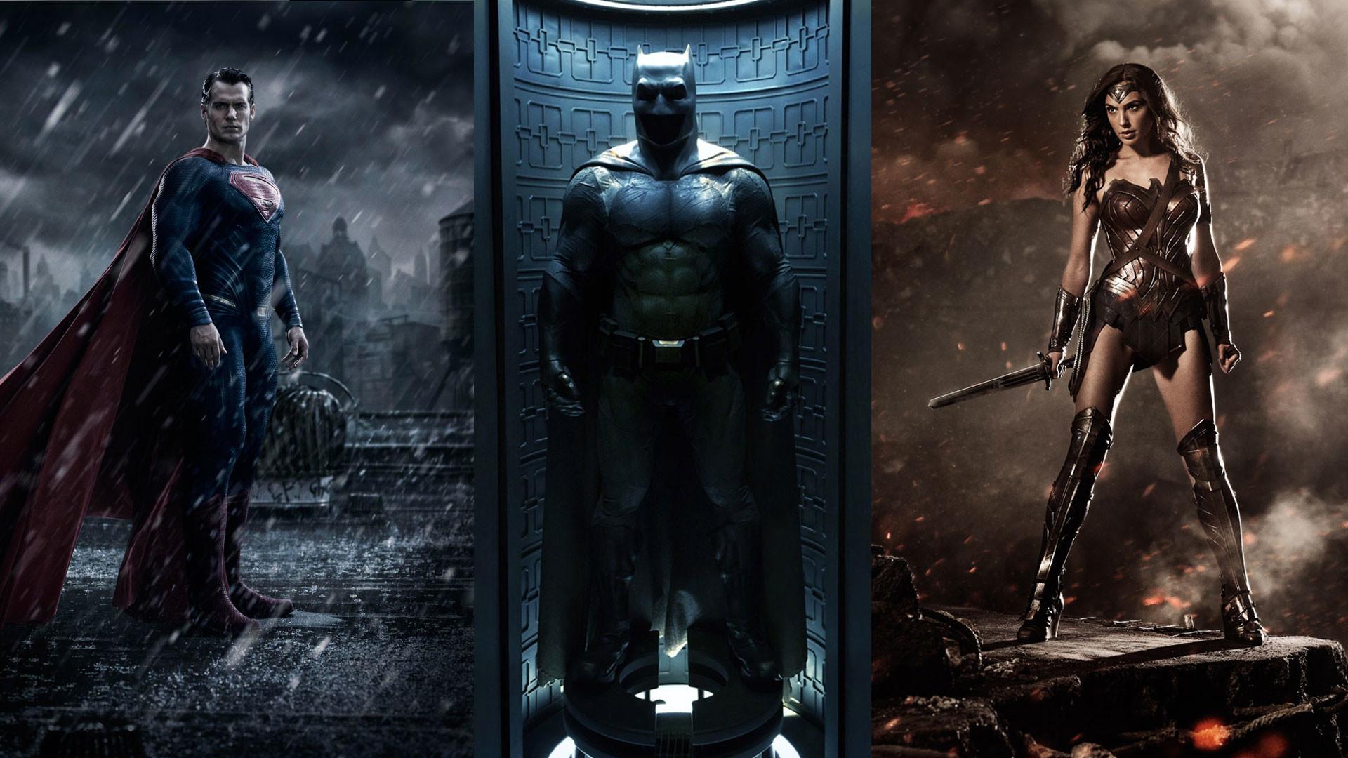 Res: 1920x1080, Superman vs Batman & Wonder Woman Wallpaper ...