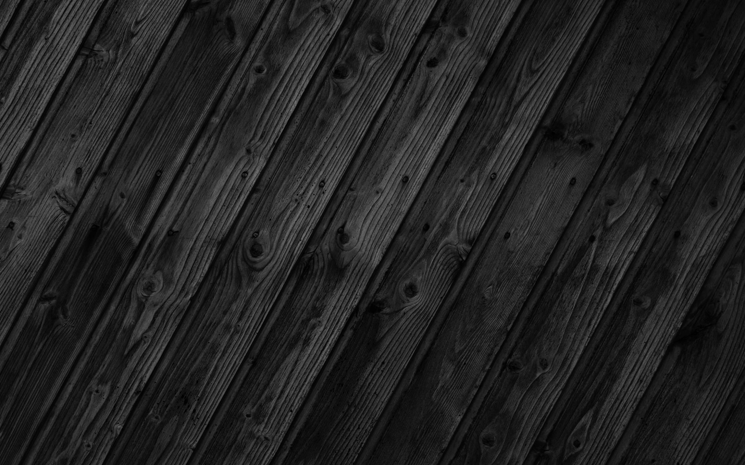 Res: 2560x1600, Wood Black Wallpaper