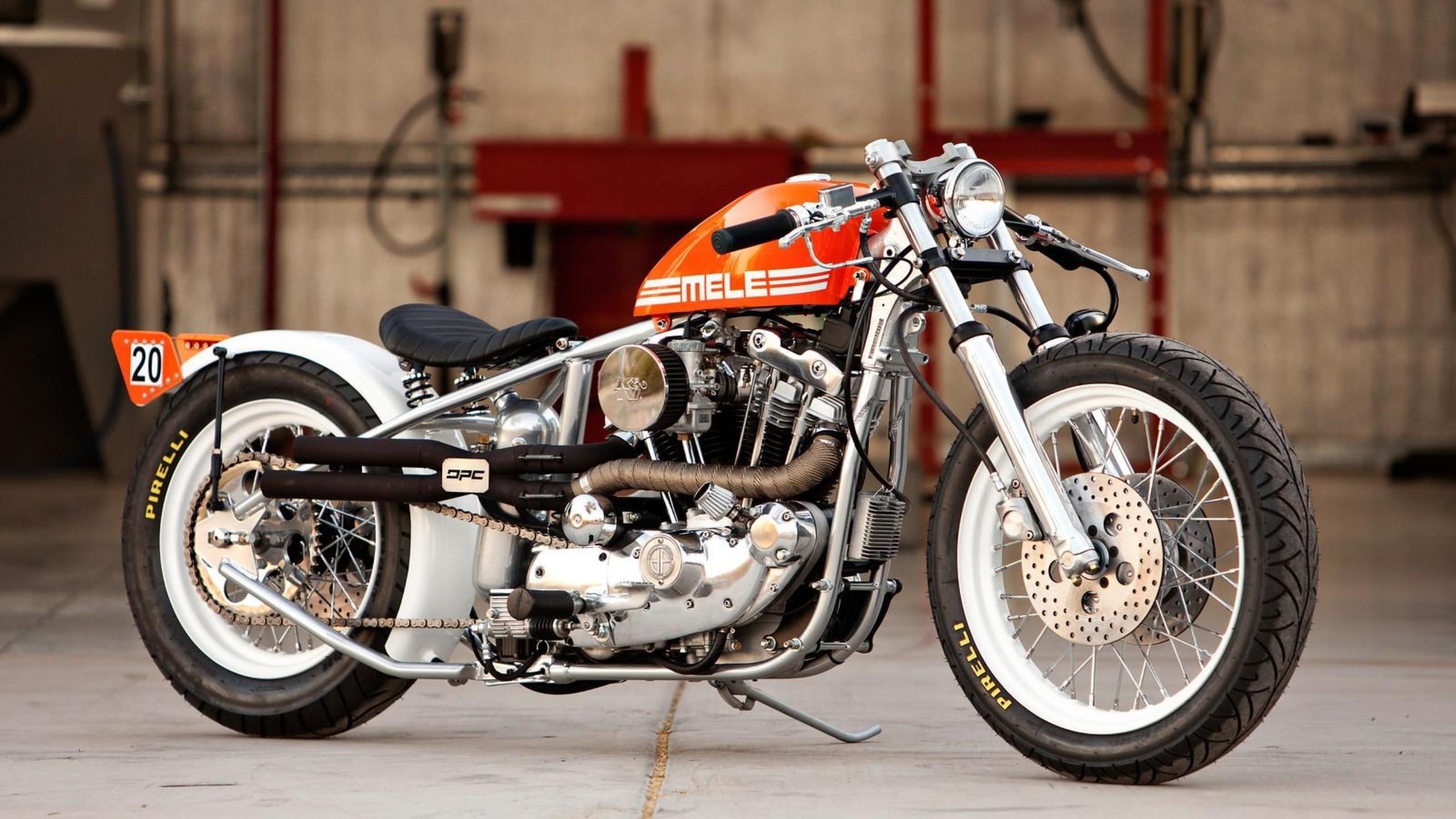 Res: 2560x1440, Harley bobber