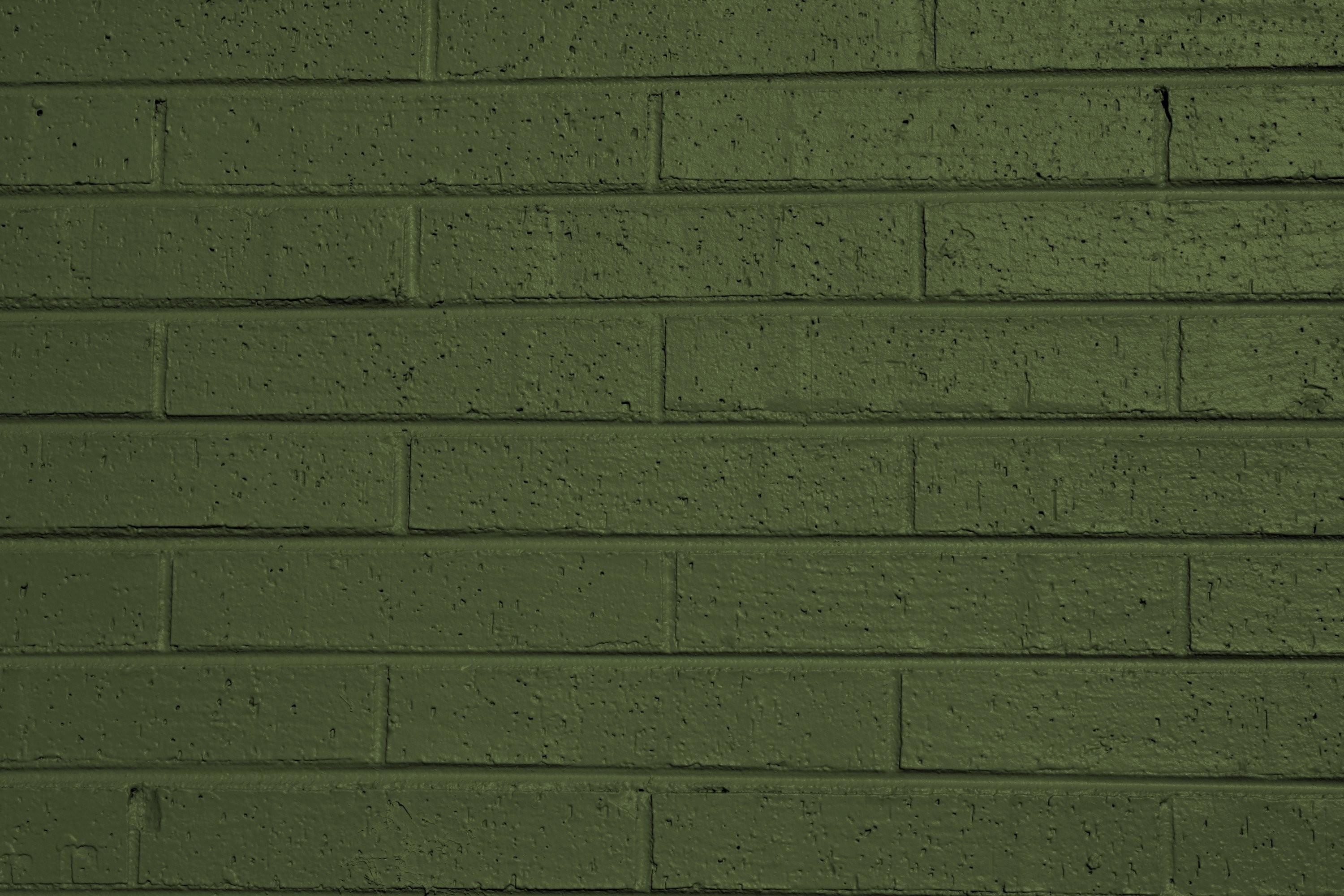 Res: 3000x2000, Olive Green Painted Brick Wall Texture