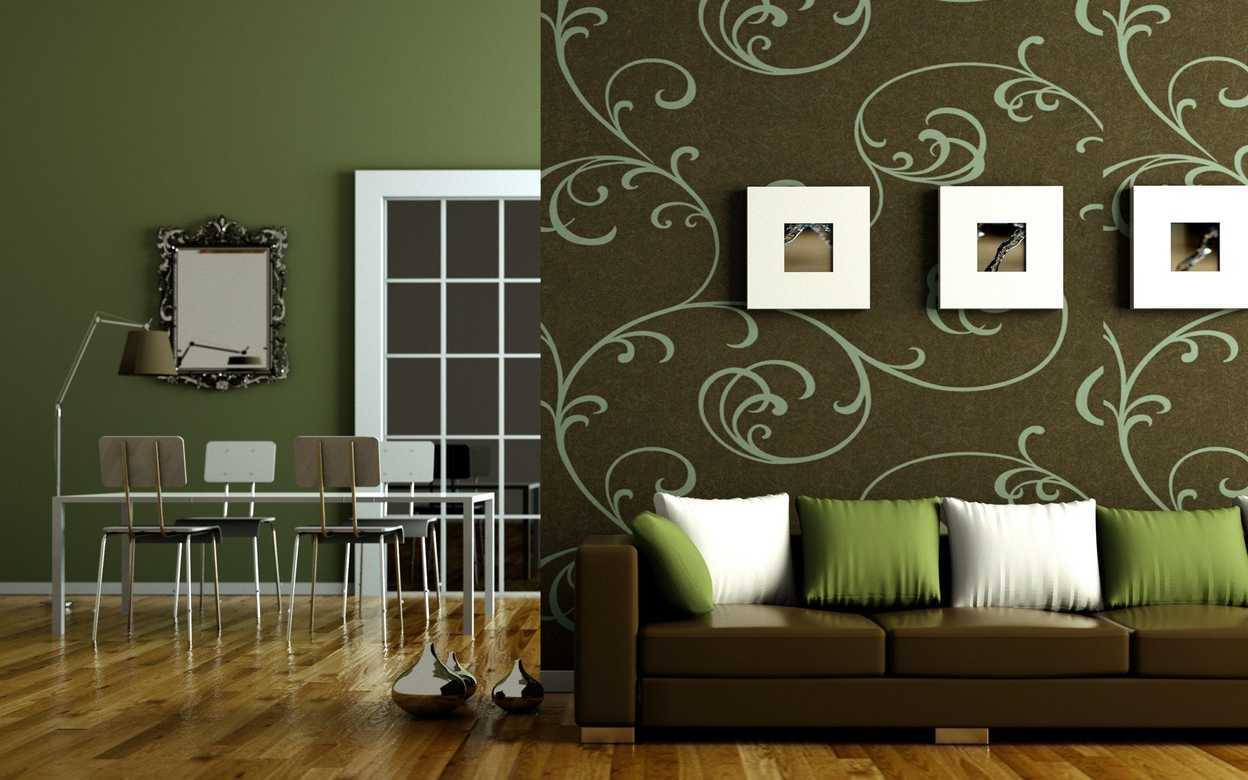 Res: 2560x1600, olive green living room design