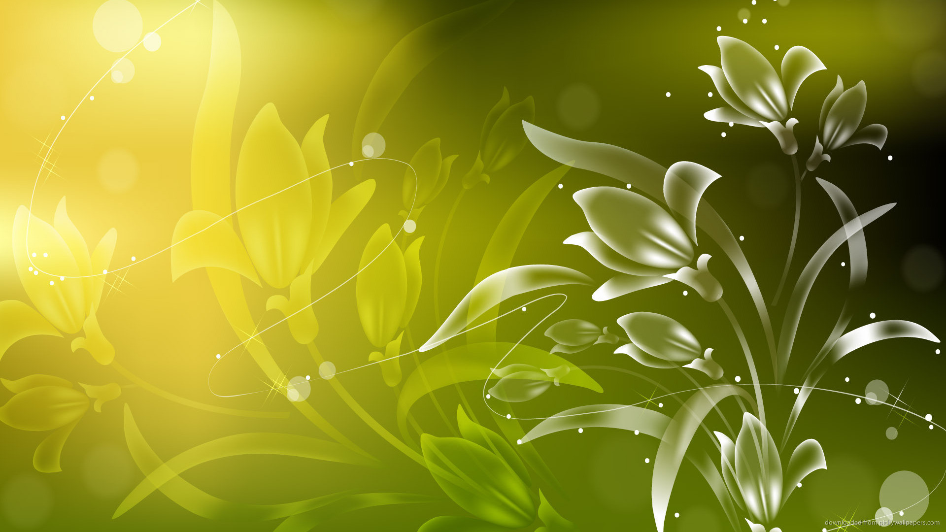 Res: 1920x1080, Green Flowers HD Free Wallpaper