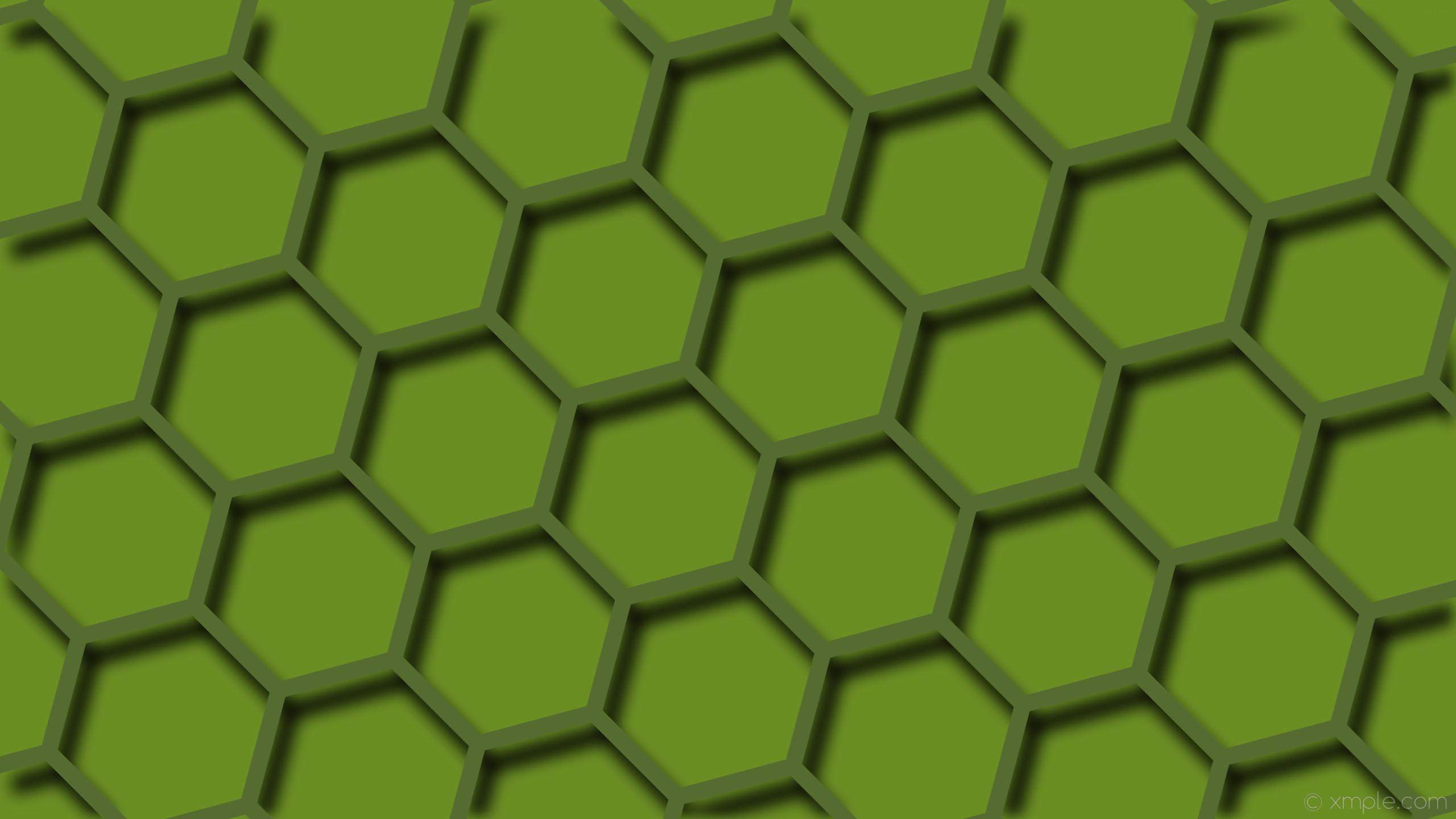 Res: 2560x1440, wallpaper beehive green hexagon drop shadow dark olive green olive drab  #556b2f #6b8e23 45
