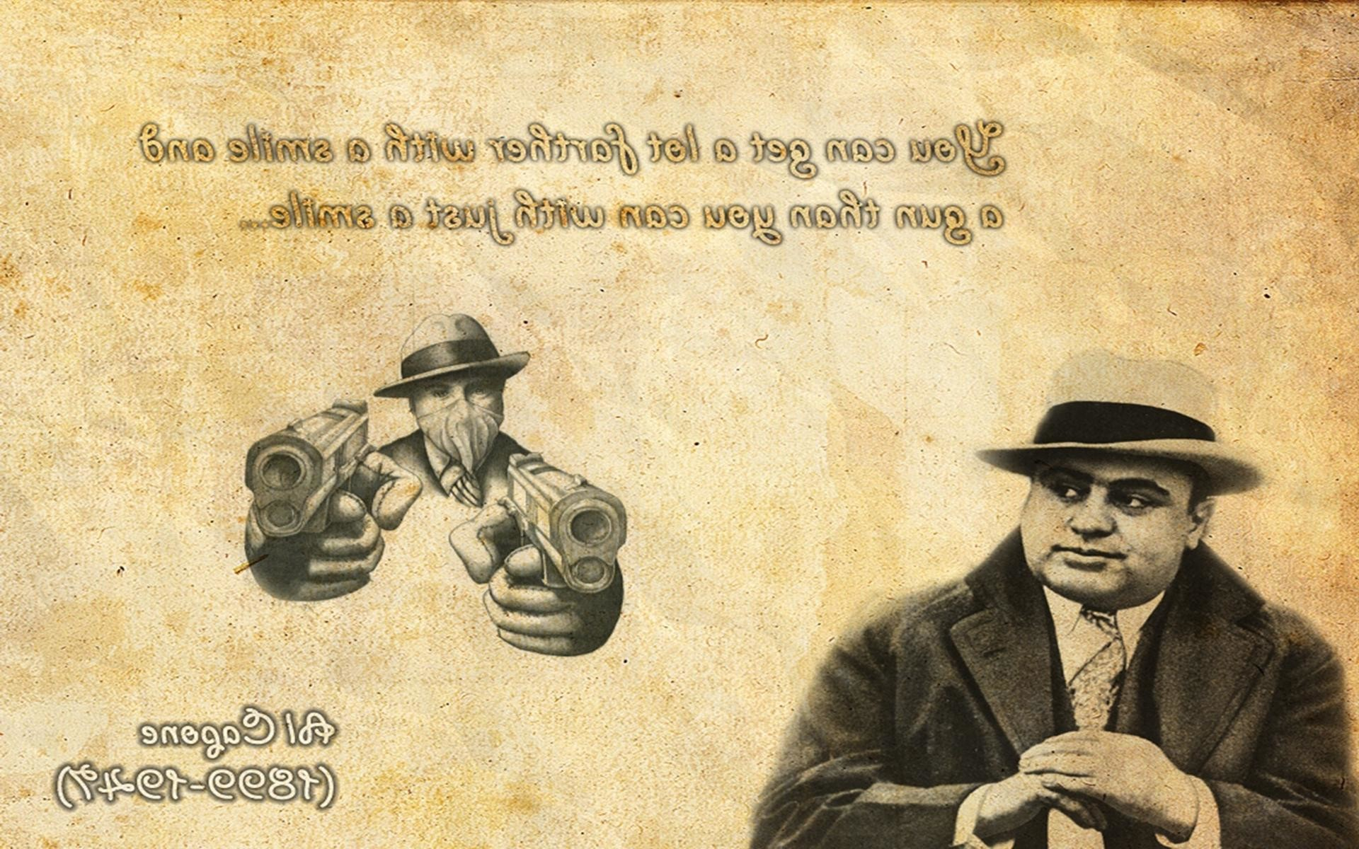 Res: 1920x1200, Al Capone Mobster Vintage Mafia Chicago Old hd wallpaper #