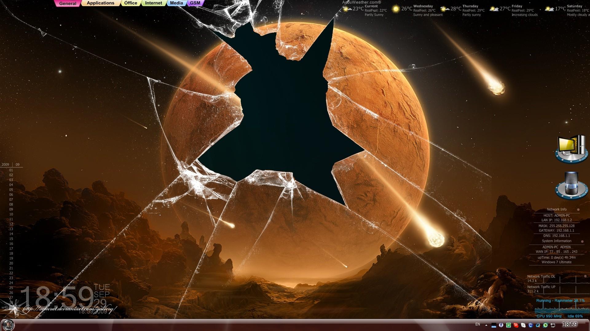Res: 1920x1080, Planet Broken Screen Wallpaper Photo