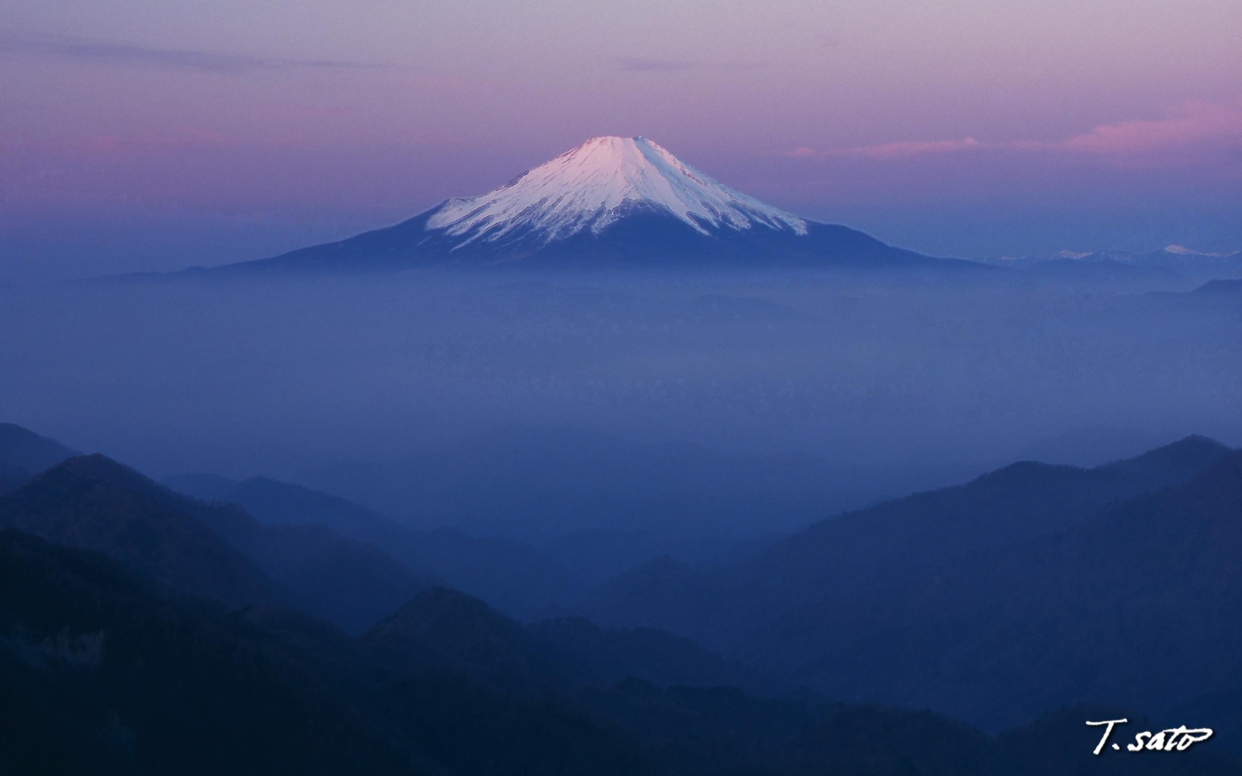 Res: 2560x1600, Bild: Rosa Mt. Fuji wallpapers and stock photos. Â«