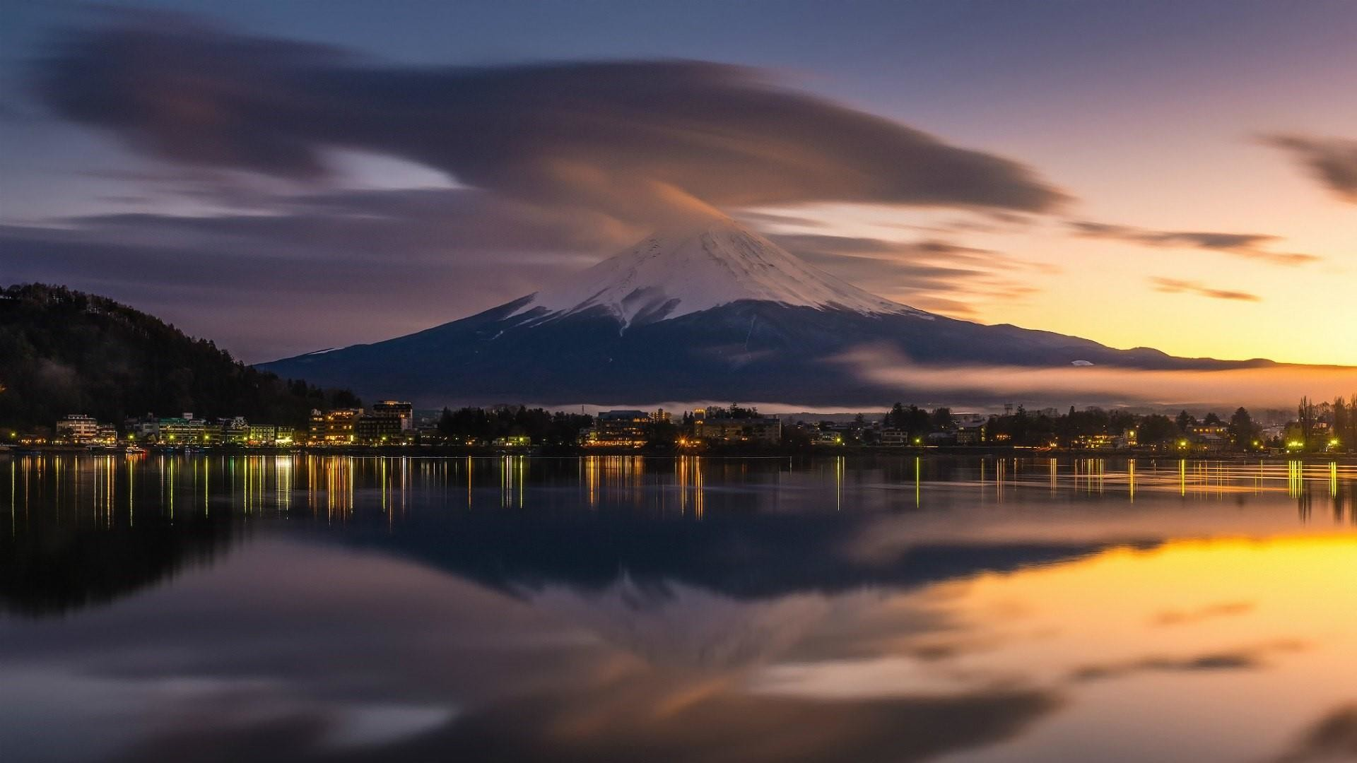 Res: 1920x1080, Lake Kawaguchi And Mount Fuji Wallpaper   Wallpaper Studio 10   Tens of  thousands HD and UltraHD wallpapers for Android, Windows and Xbox