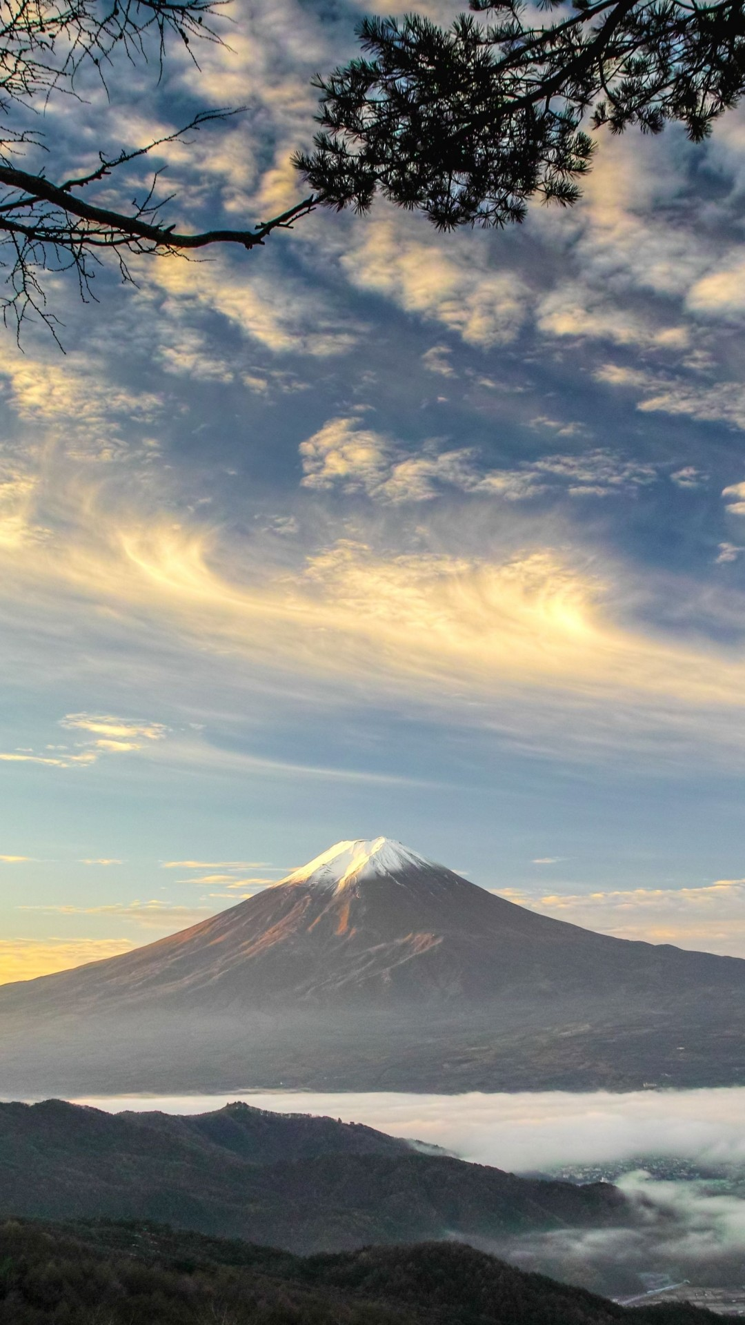 Res: 1080x1920, Earth / Mount Fuji () Mobile Wallpaper