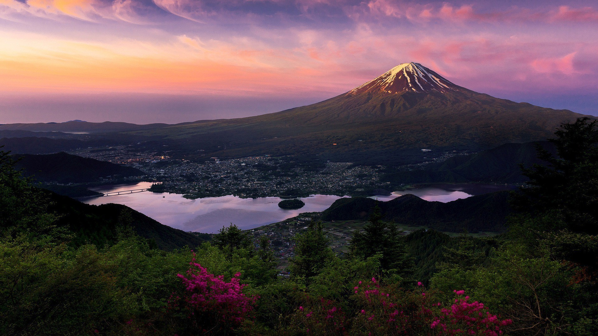 Res: 1920x1080, nature mountain japan mount fuji landscape wallpaper and background