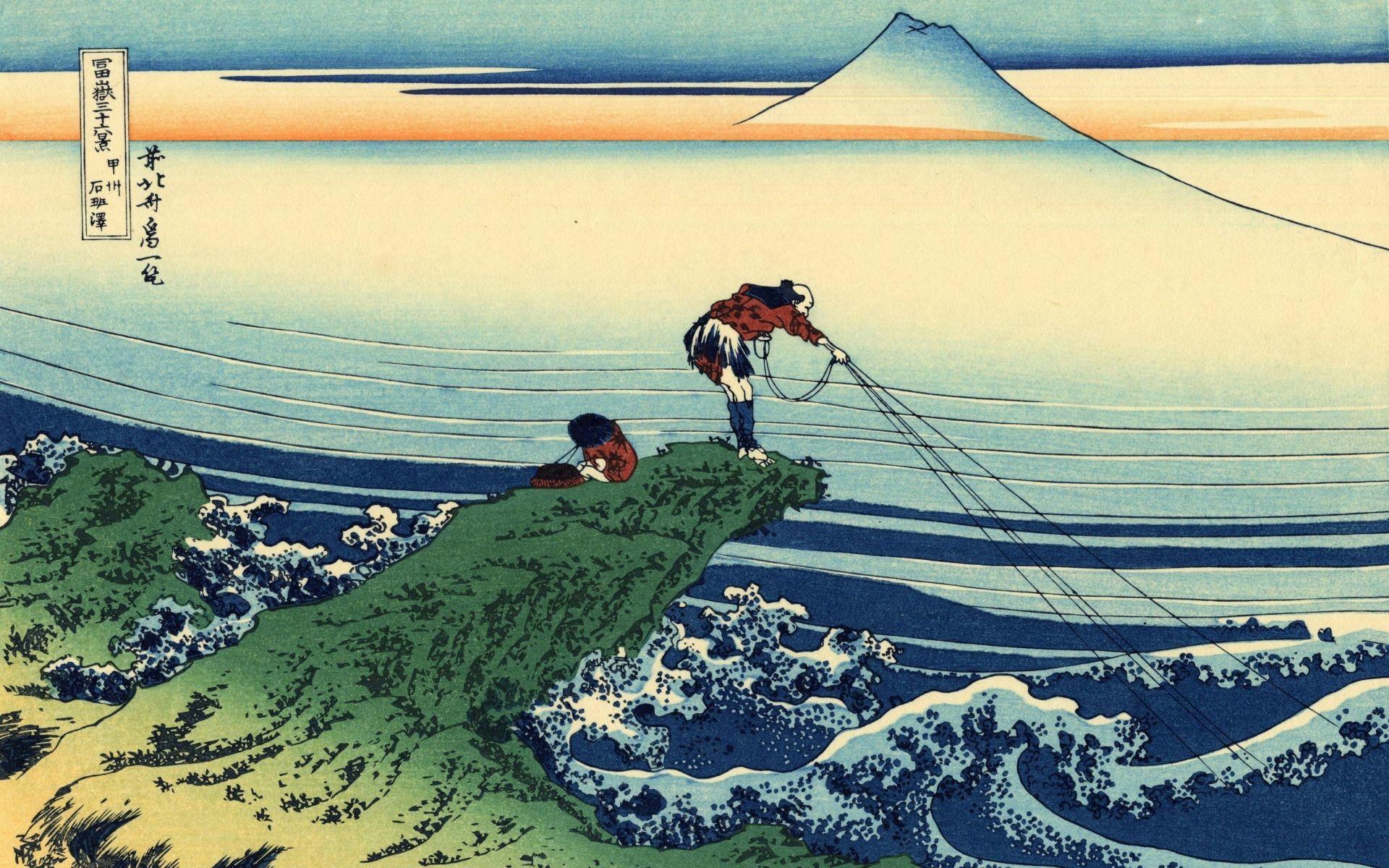 Res: 1920x1200, katsushika-hokusai-thirtysix-views-of-mount-fuji-wallpaper.
