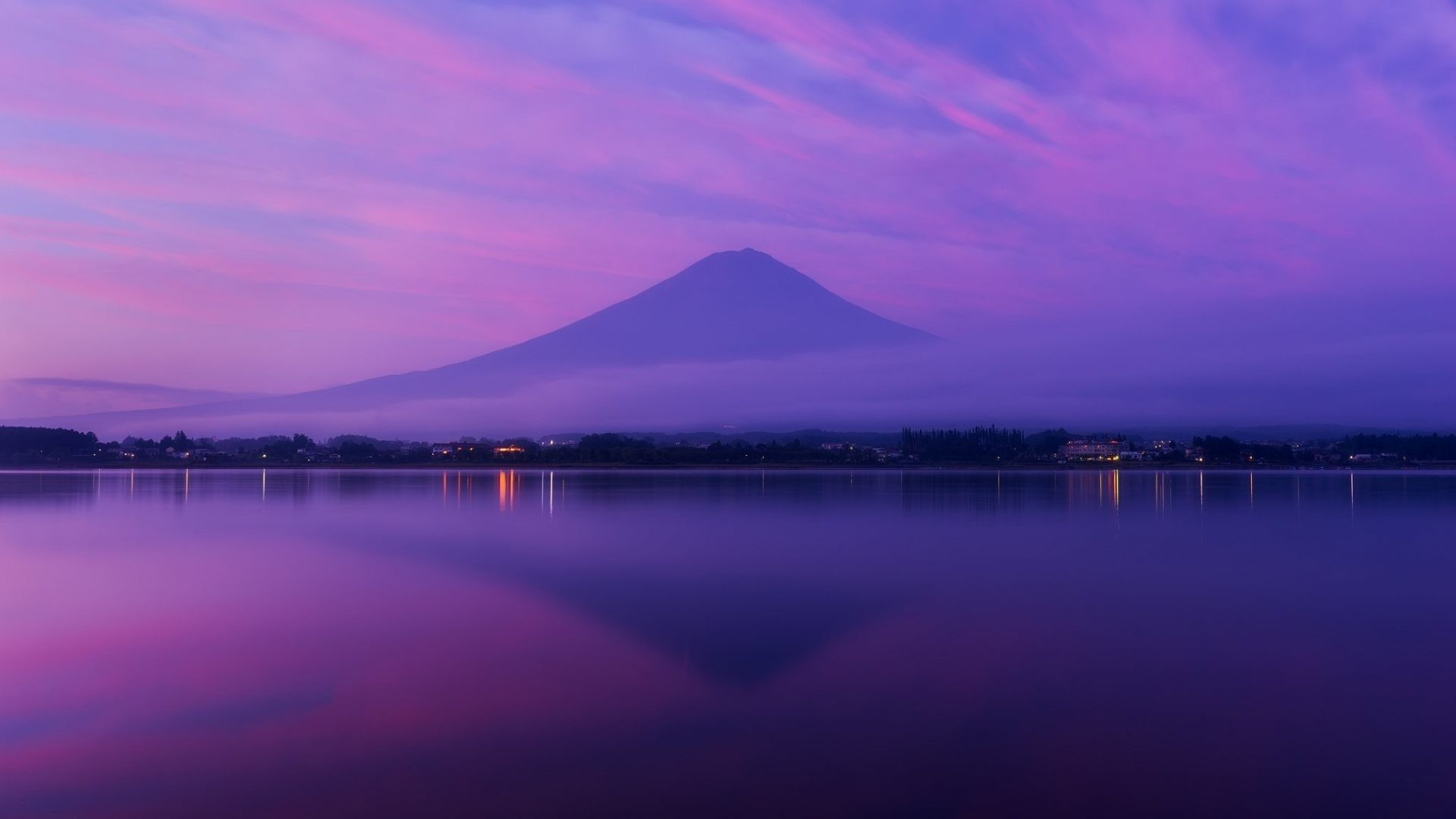 Res: 1920x1080, #7755AA Color - Volcano Fuji Mountain Honshu Japan Nature Green Wallpaper  Free Download for HD