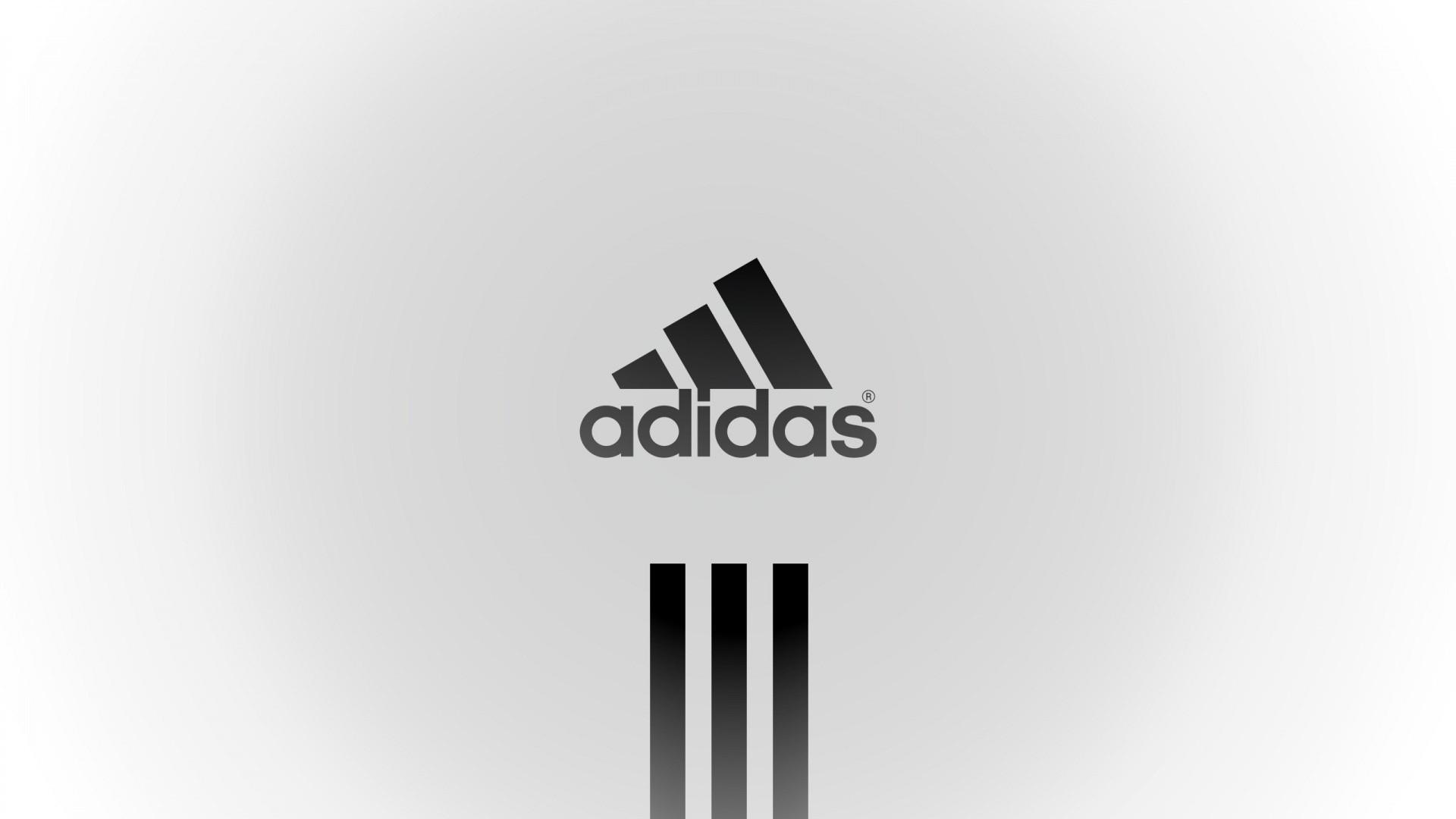 Res: 1920x1080, Adidas, Sports, Logo, Brand, Minimalism, White Background