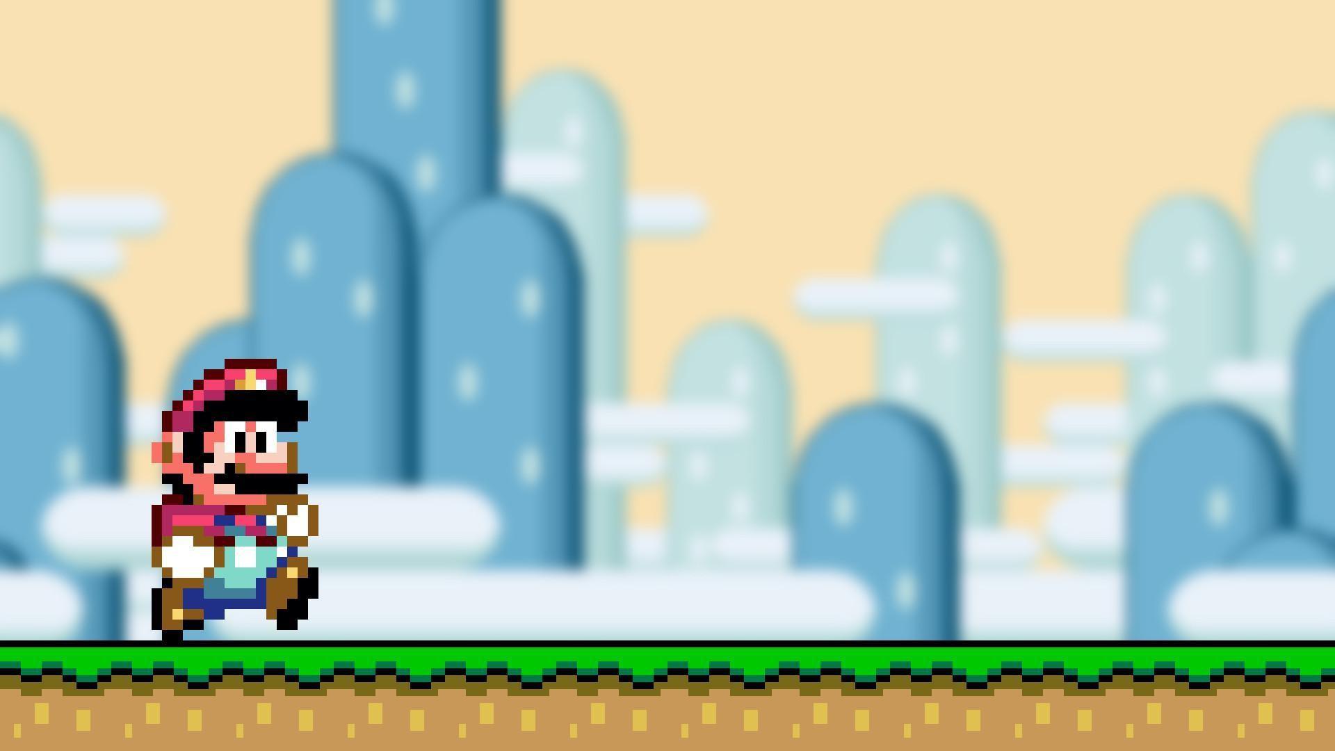 Res: 1920x1080, 16-Bit-Spiel Super Mario