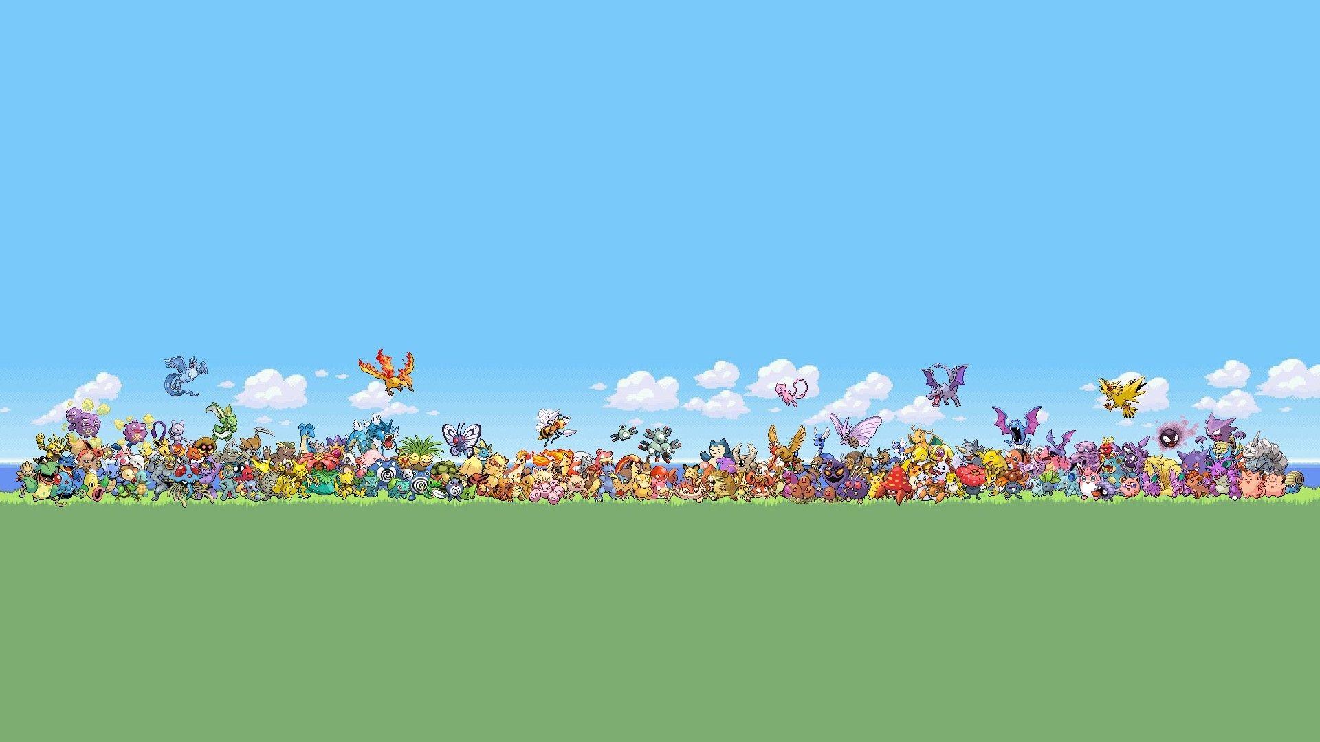 Res: 1920x1080, #Retro #Pokemon [Gaming • Nature • Movies/Shows] #desktop #