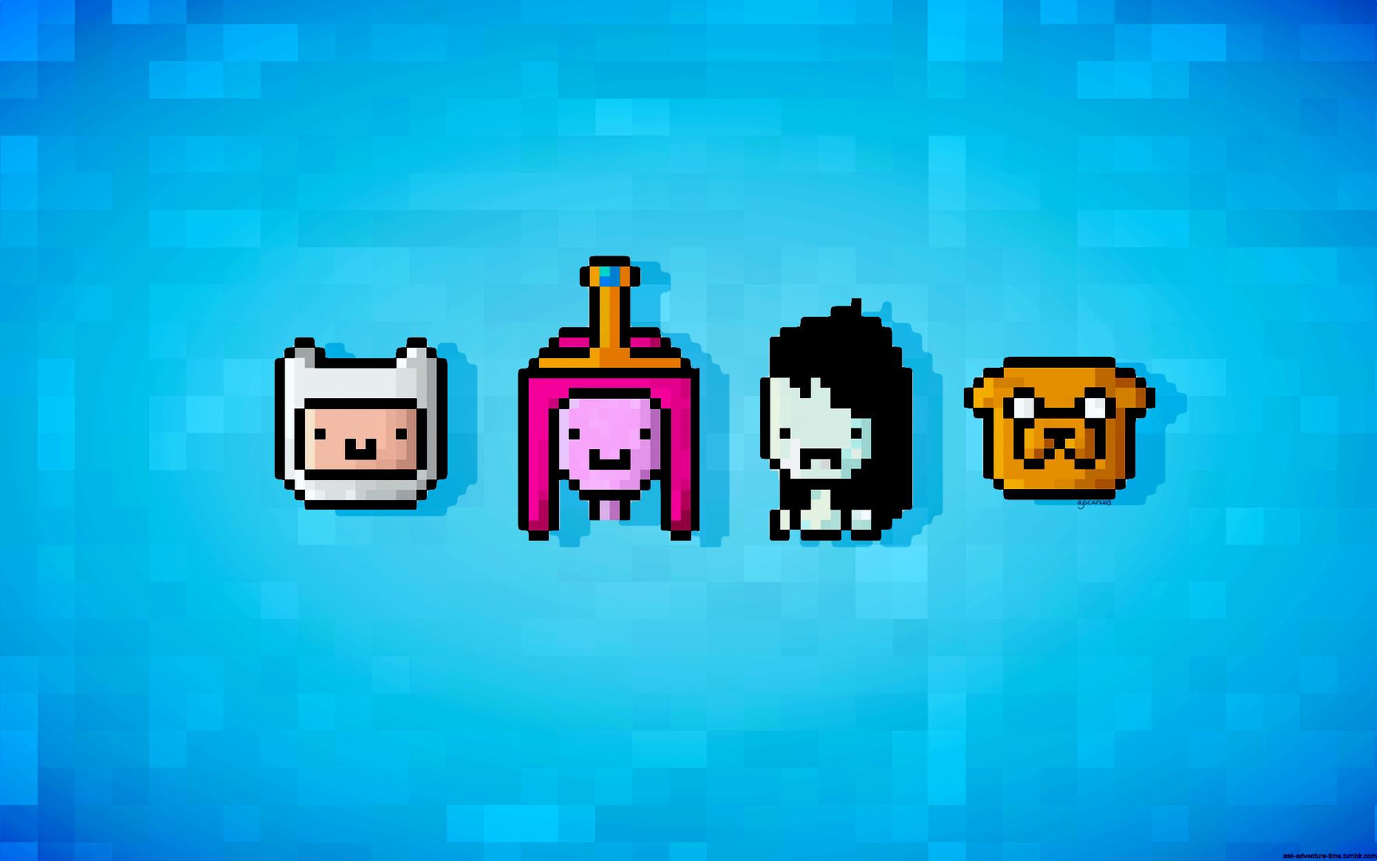 Res: 2000x1250, Adventure Time, Princess Bubblegum, 16-bit, Finn and Jake - Free Wallpaper  / WallpaperJam.com