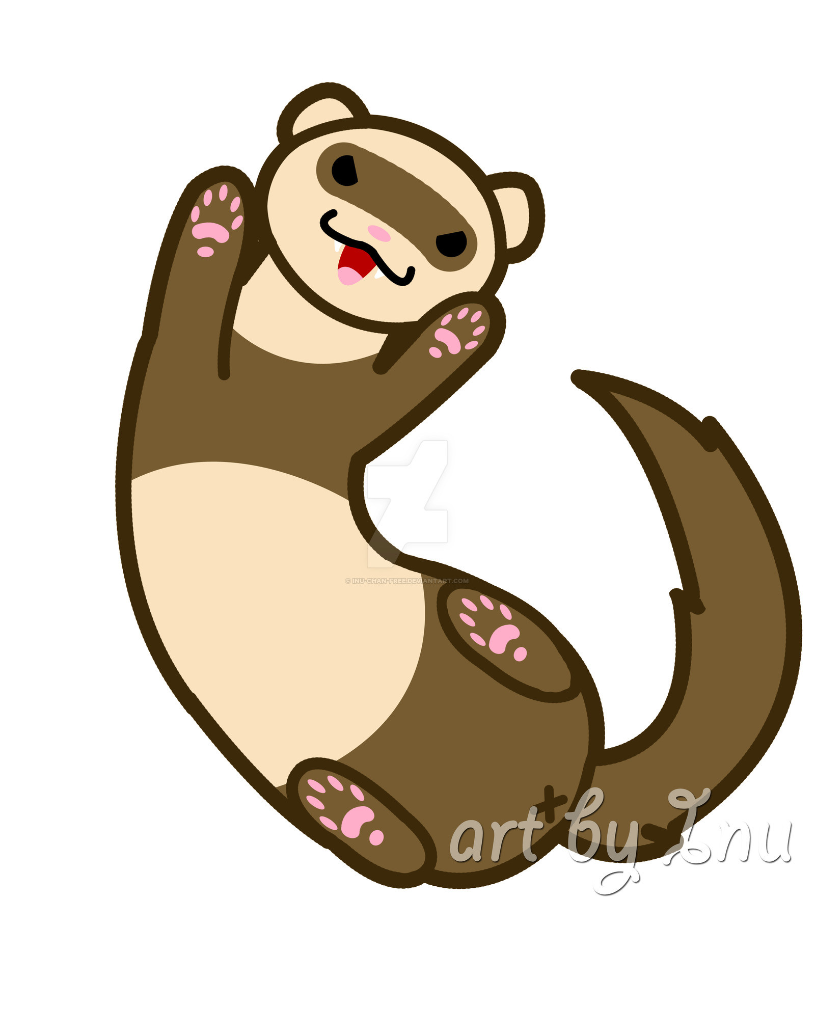 Res: 1600x1981, ... Cute ferret playing by inu-chan-free