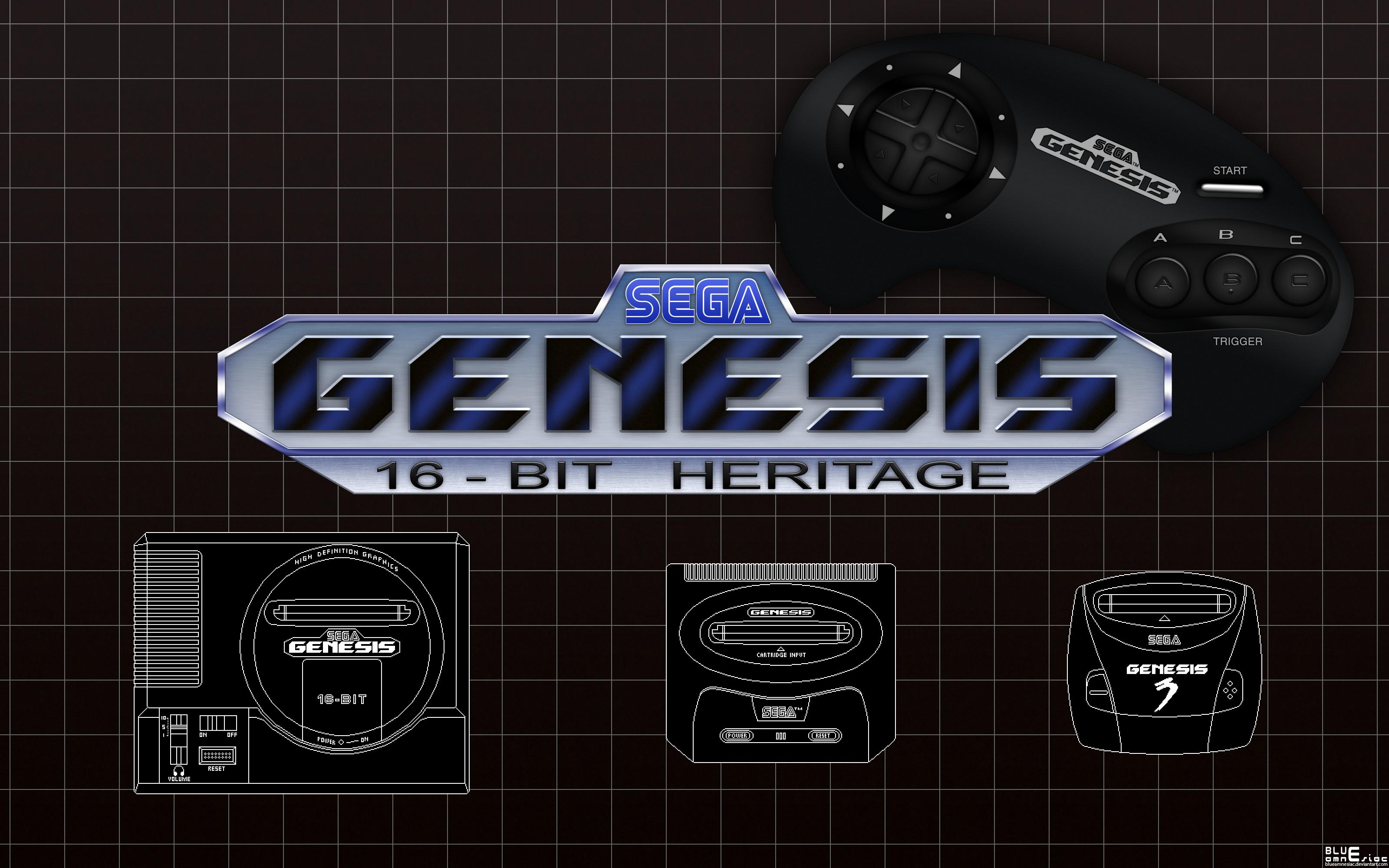Res: 3200x2000, ... Sega Genesis: 16-bit Heritage Wallpaper by BLUEamnesiac