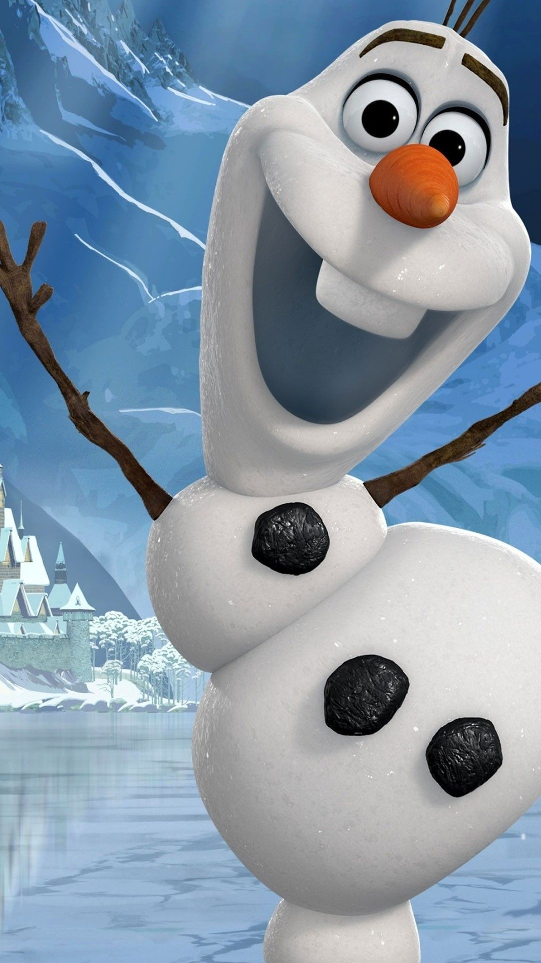 Res: 1080x1920, Funny 2014 Christmas Frozen iPhone 6 Plus Wallpapers - Disney Olaf for  Girls #2014 #Christmas #Frozen