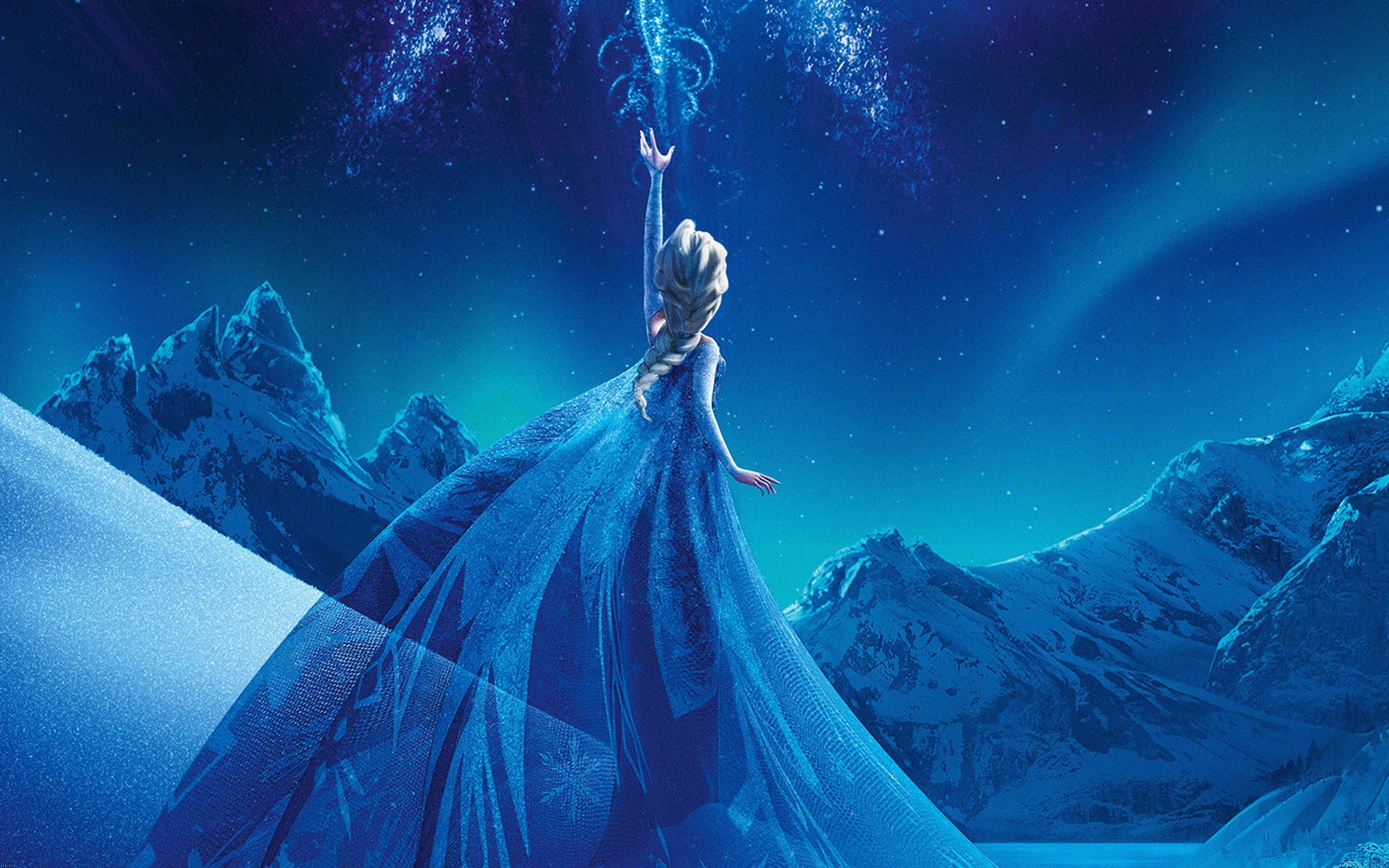 Res: 2880x1800, Elsa of Frozen scene HD wallpaper