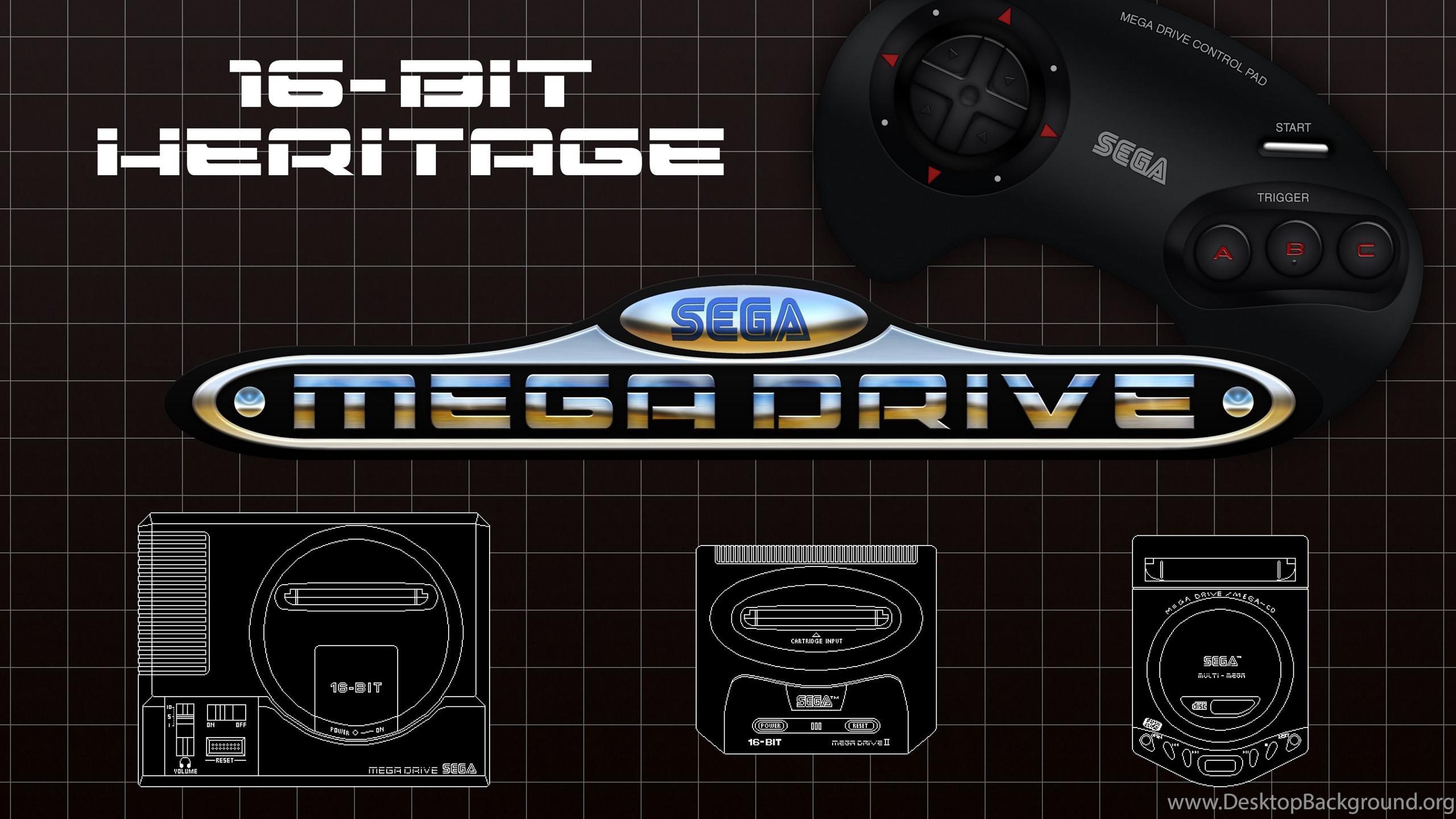 Res: 2560x1440, Mobile HD 1080x1920 Source · Sega Mega Drive 16 bit Heritage Wallpapers By  BLUEamnesiac On