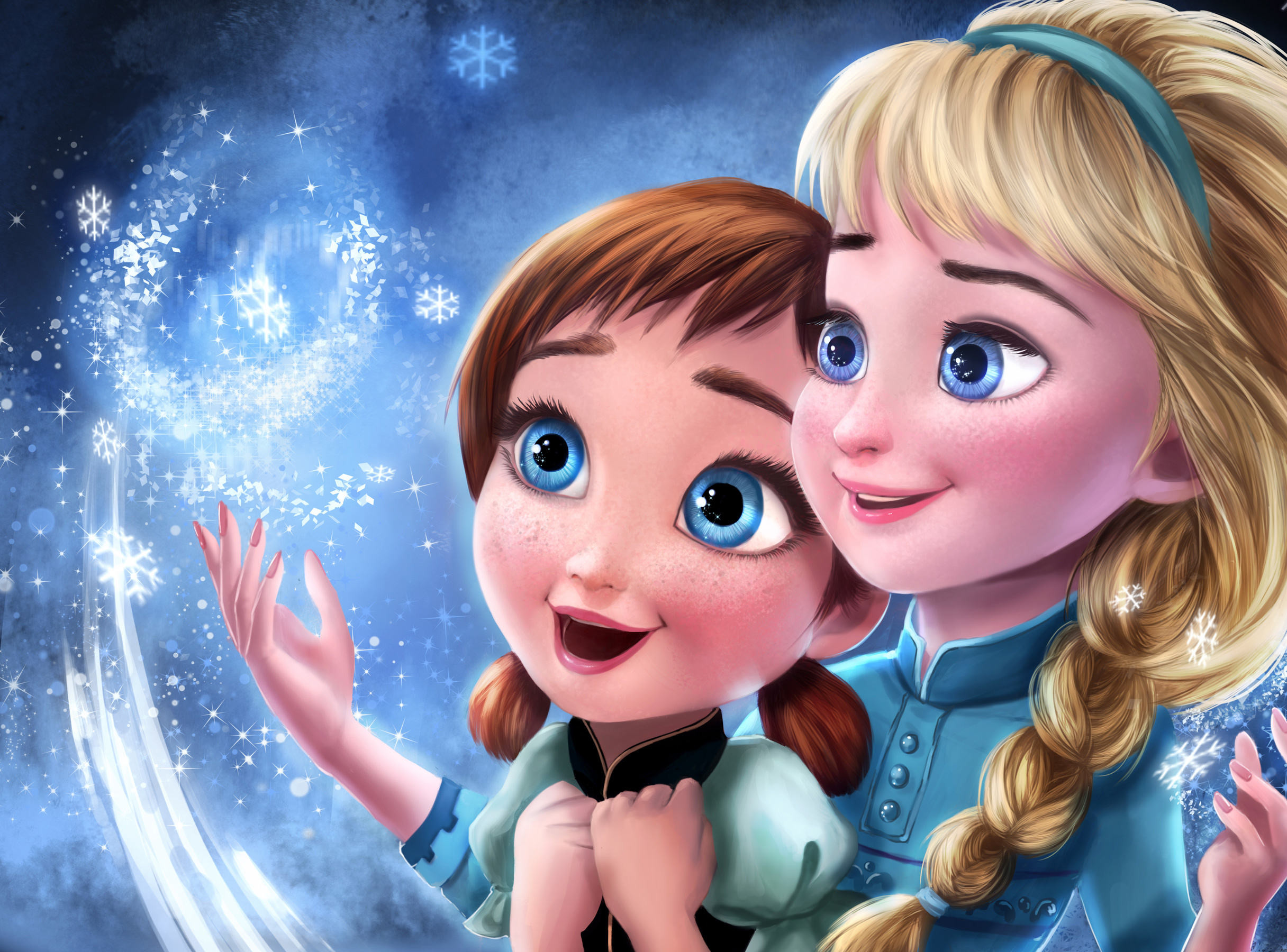 Res: 2432x1800, Frozen Elsa Anna Sisters Wallpaper