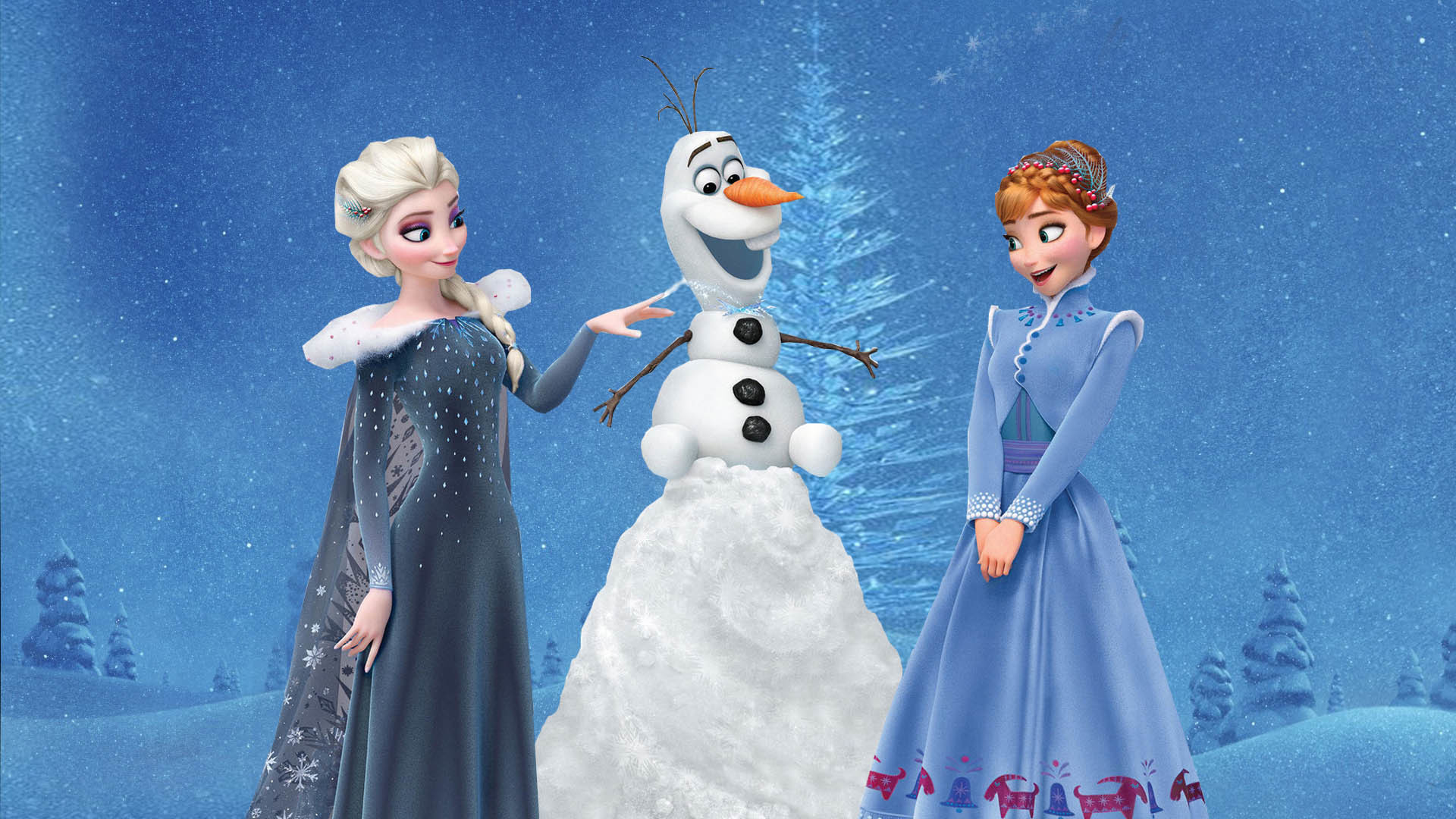 Res: 1920x1080, Frozen Christmas wallpaper ...