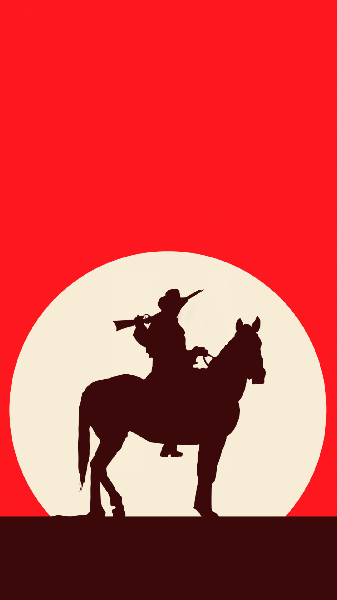 Res: 1080x1920, Artistic cowboy Horse Red Western Red Dead Redemption.