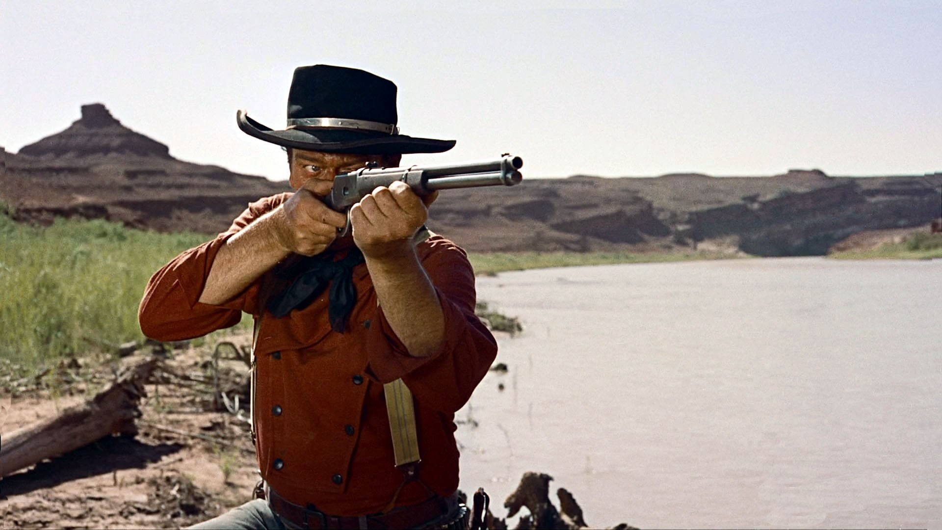 Res: 1920x1080, movies weapons guns rifle cowboy men actor wallpaper background