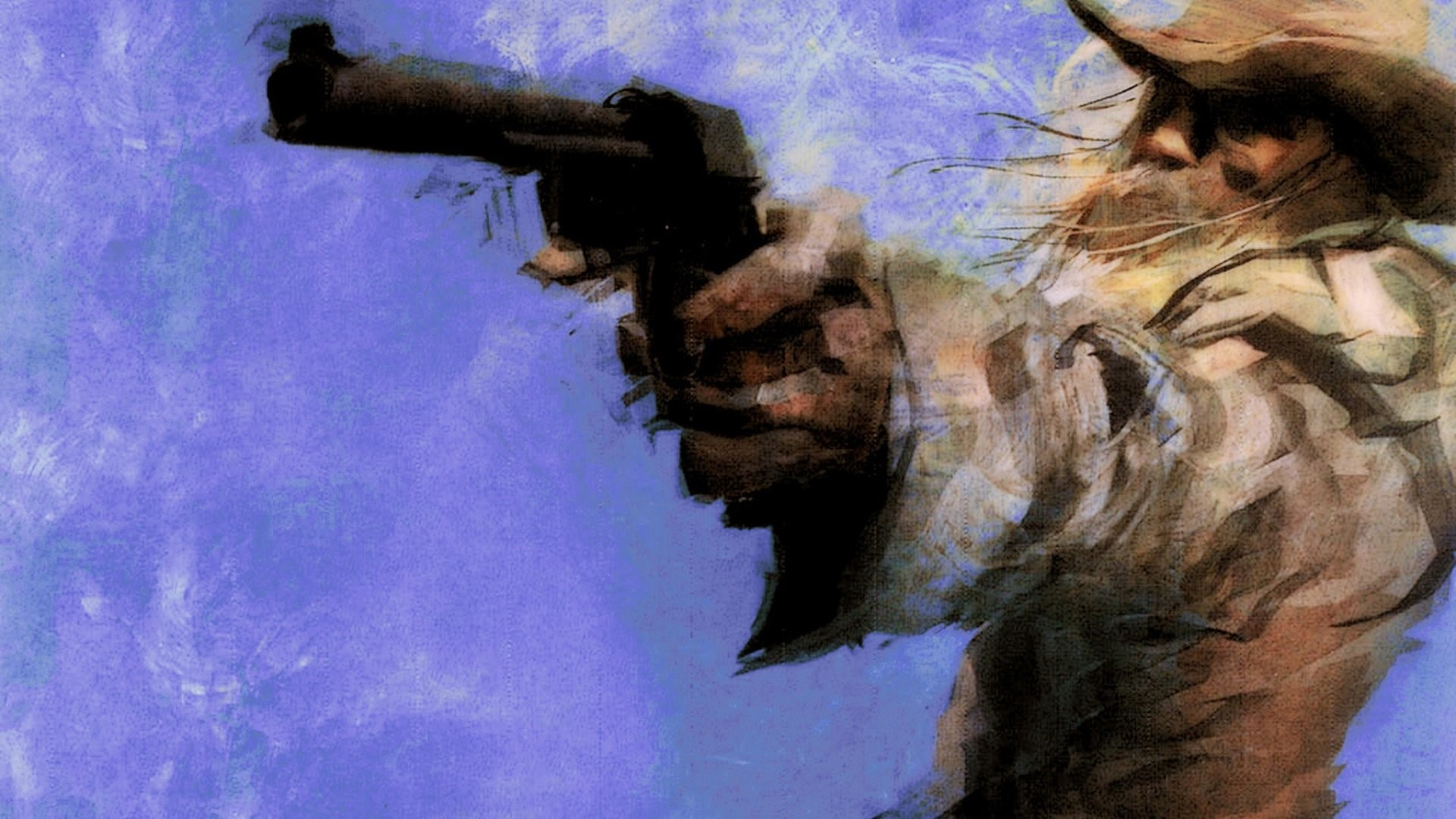 Res: 1920x1080, Painting old west gunman cowboy revolver wallpaper |  | 704337 |  WallpaperUP