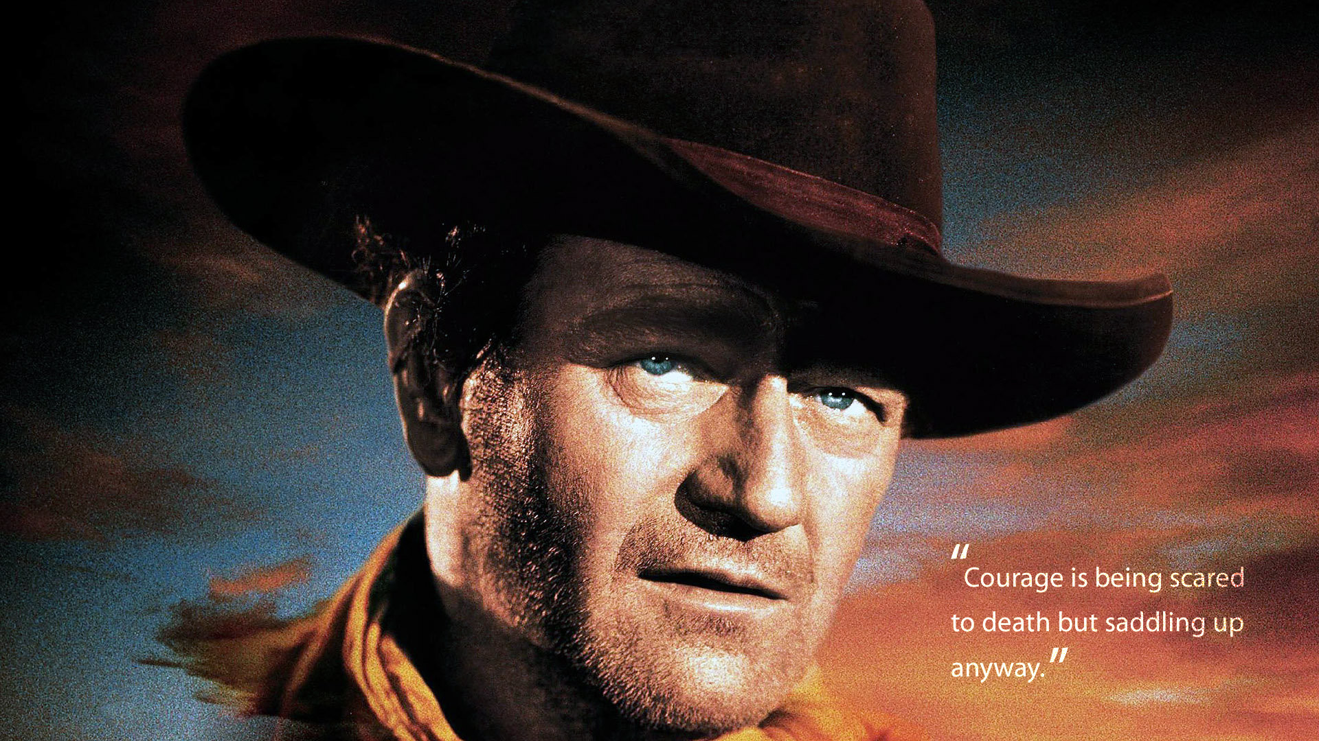 Res: 1920x1080, John Wayne u201cCourageu201d Quote HD Wallpaper. « »