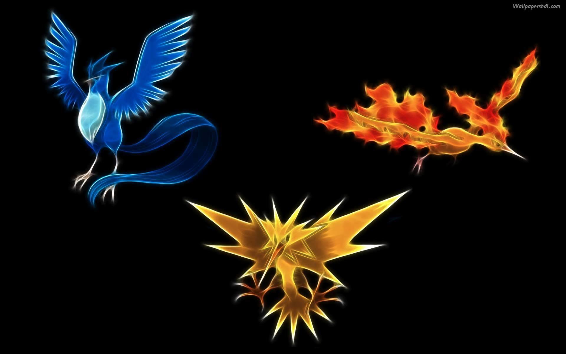 Res: 1920x1200, 3 legend bird - Pokemon Wallpaper