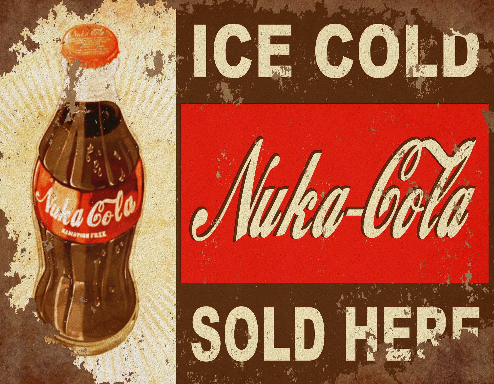 Res: 2000x1556, Computerspiele - Fallout Nuka Cola Wallpaper