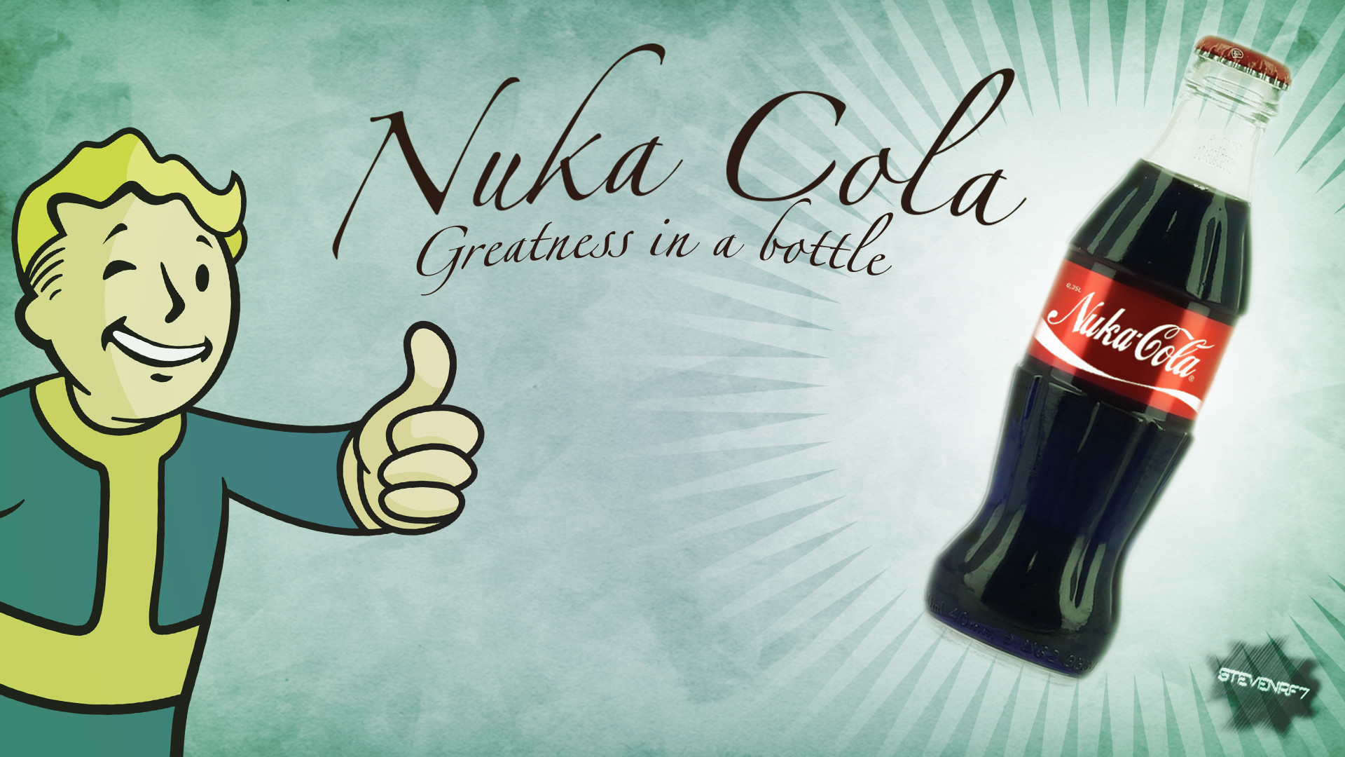 Res: 1920x1080, ... Nuka-Cola Fallout Themed Background  by stevenrf7