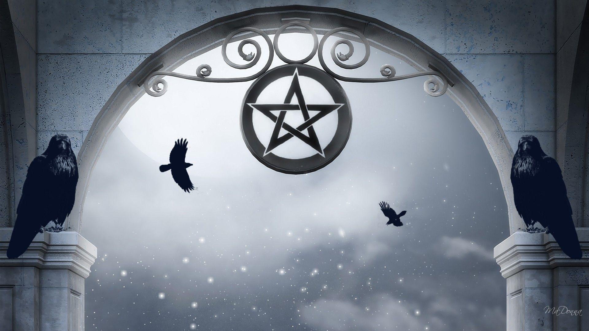 Res: 1920x1080, Pentagram wallpaper