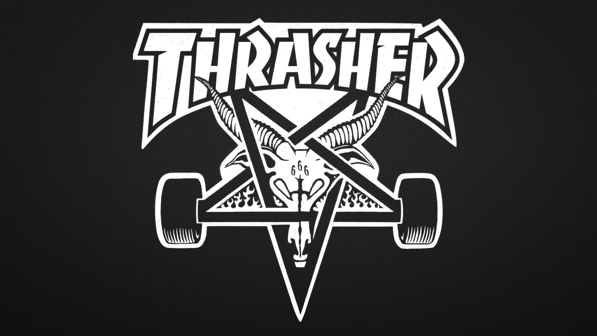 Res: 1920x1080, Thrasher pentagram logo - photo#5
