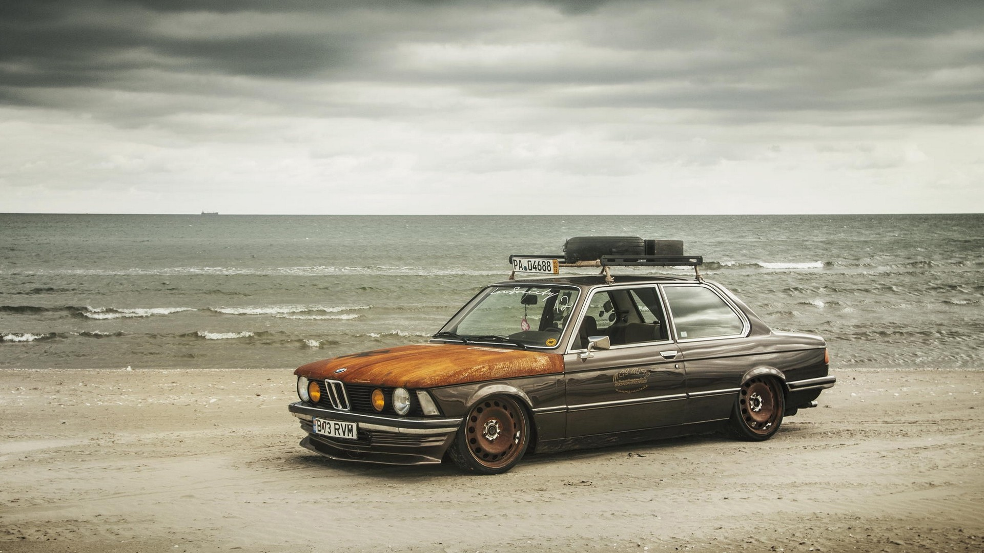 Res: 1920x1080,  Wallpaper bmw, e21, stance, tuning