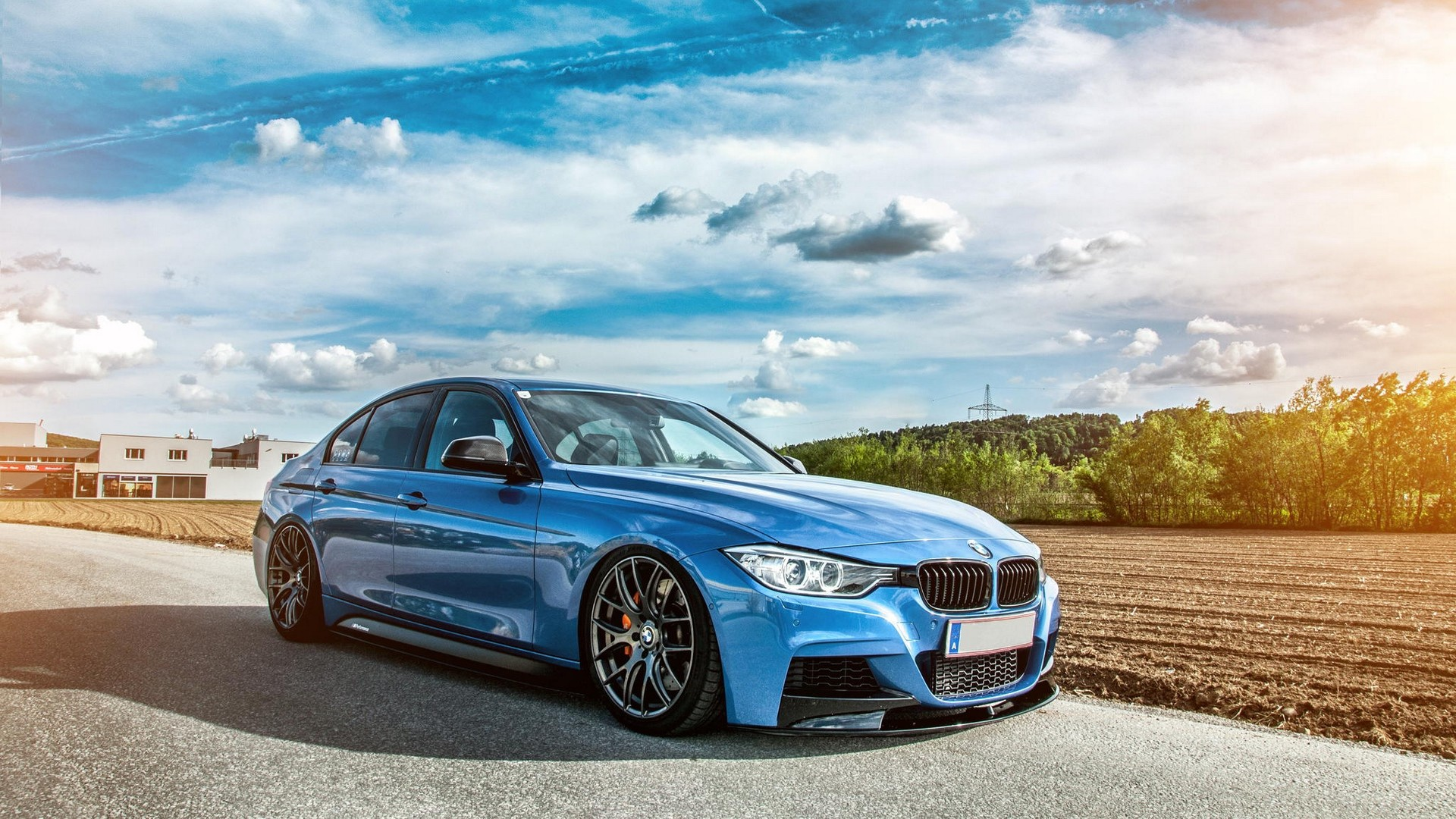 Res: 1920x1080,  Wallpaper bmw, f30, 335i, tuning, stance