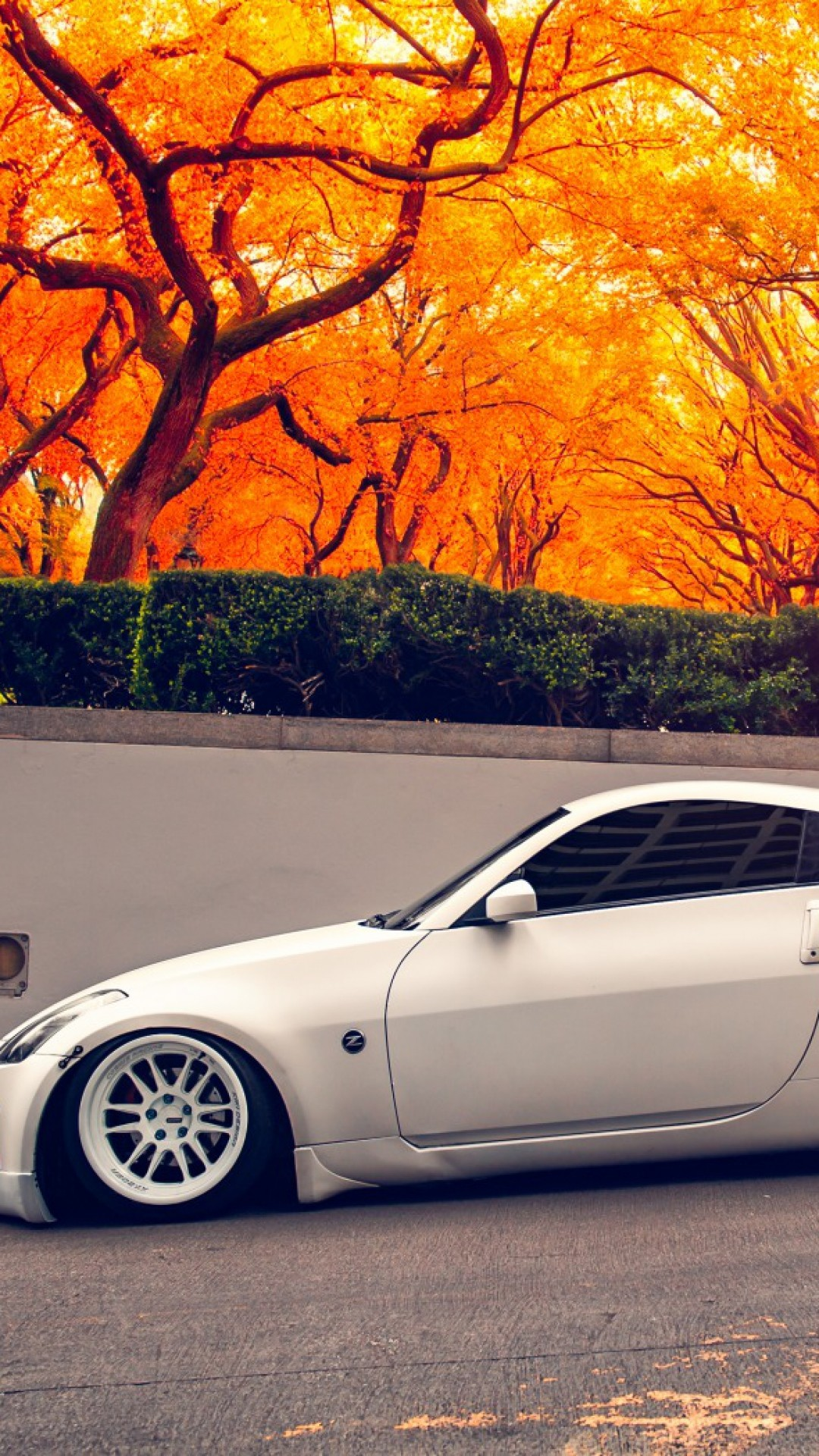 Res: 1080x1920, 350z stance autumn sports car wallpaper cool colourful download free best  apple display picture