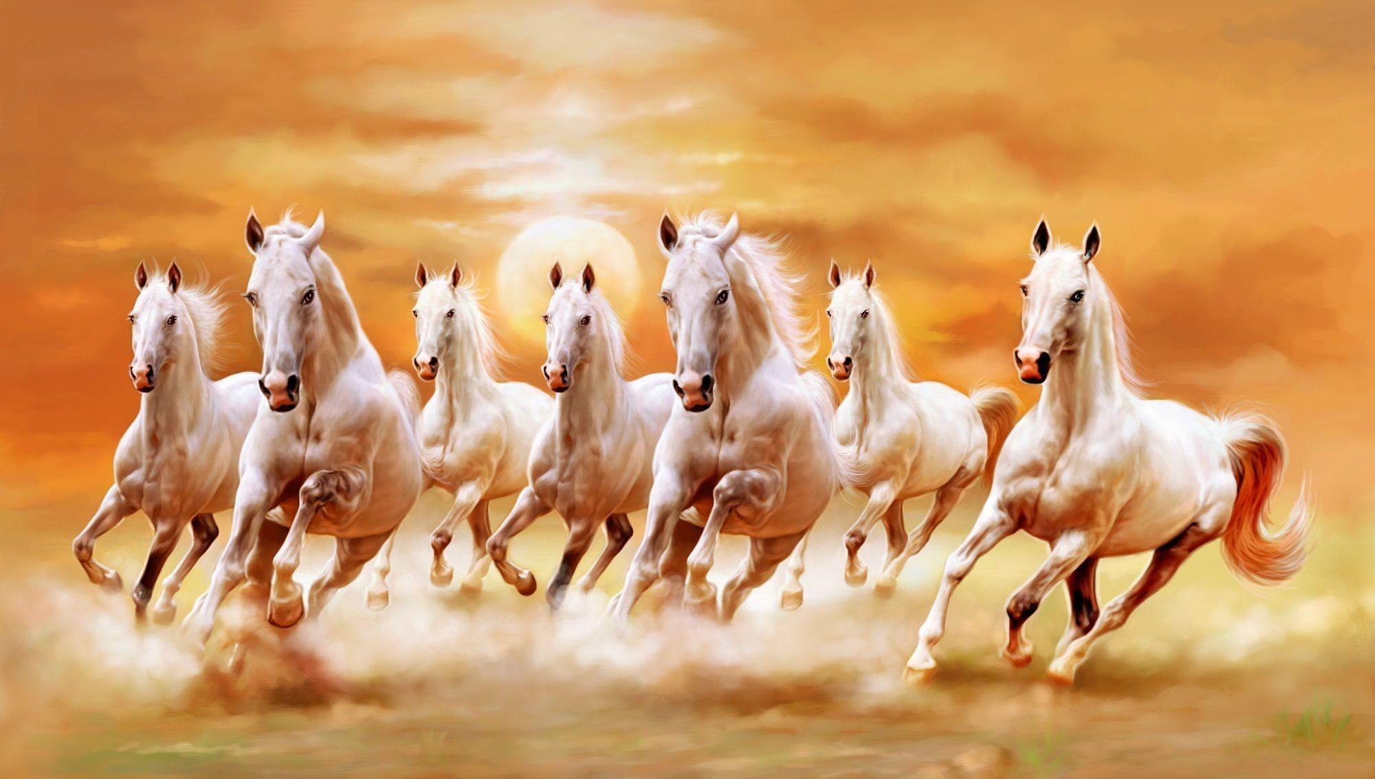 Res: 2000x1133, Seven Horse Wallpaper