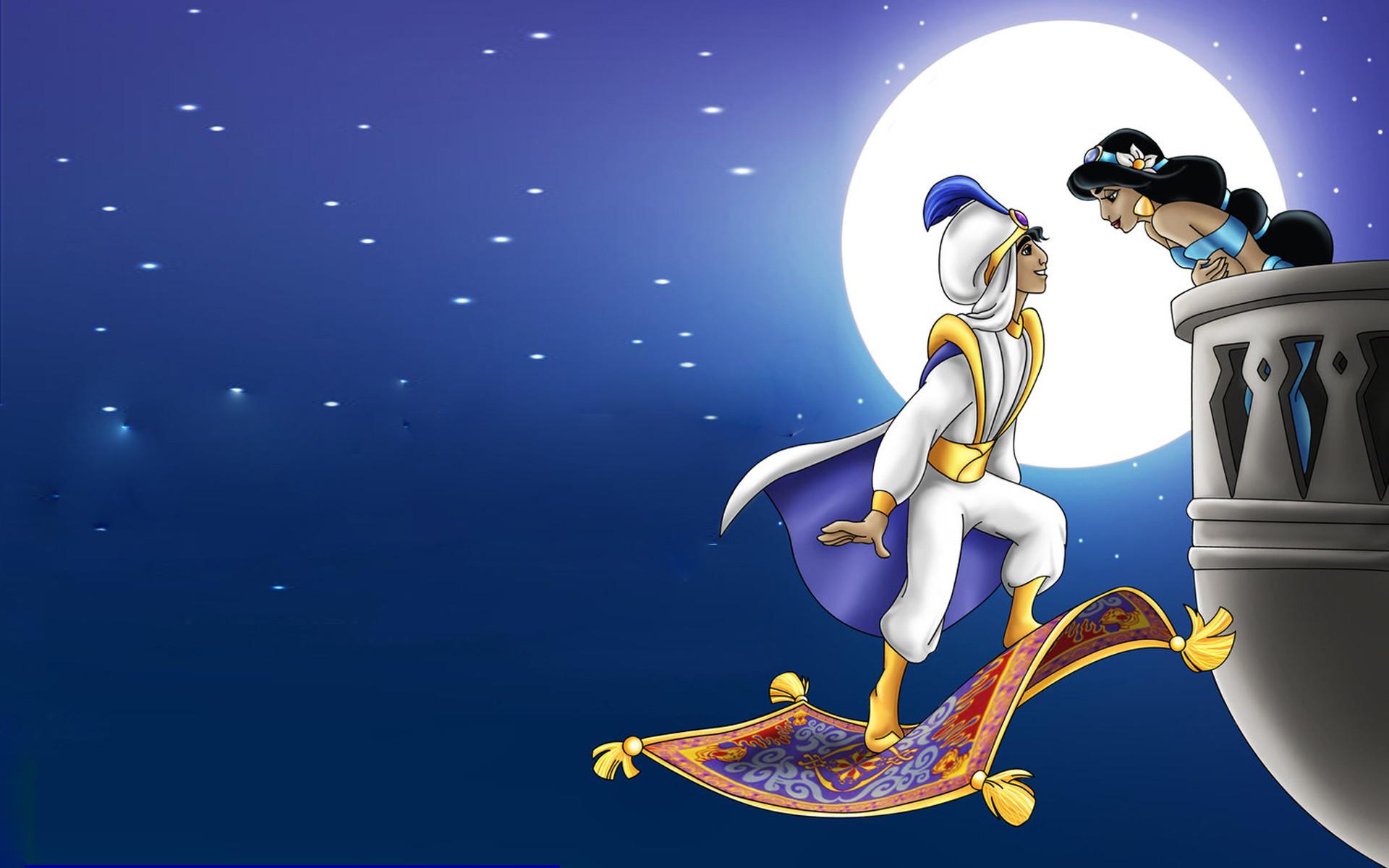 Res: 1920x1200, Aladdin And Princess Jasm.