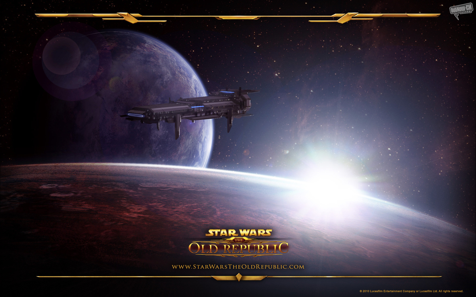 Res: 1920x1200, Video Game - Star Wars: The Old Republic Game Star Wars Republic Spaceship  Planet Space