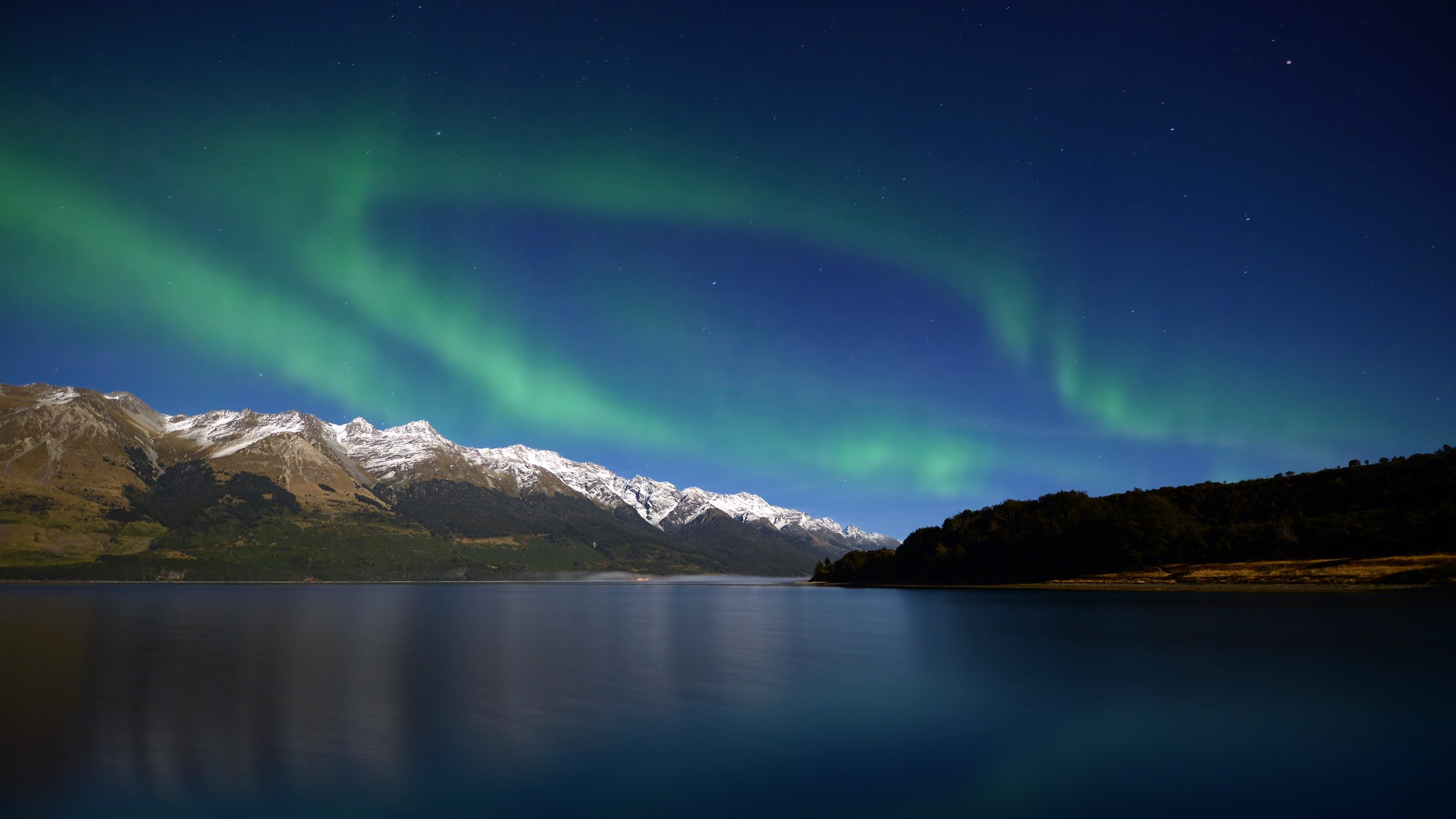 Res: 3840x2160, Southern Lights Over The Mountains In New Zealand Wallpaper | Wallpaper  Studio 10 | Tens of thousands HD and UltraHD wallpapers for Android, ...